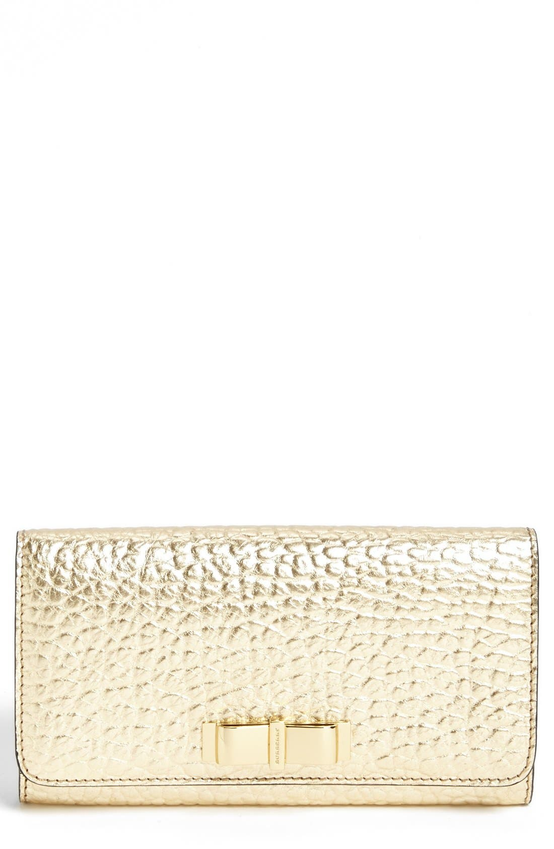 Alternate Image 1 Selected - Burberry 'Penrose' Bow Leather Wallet