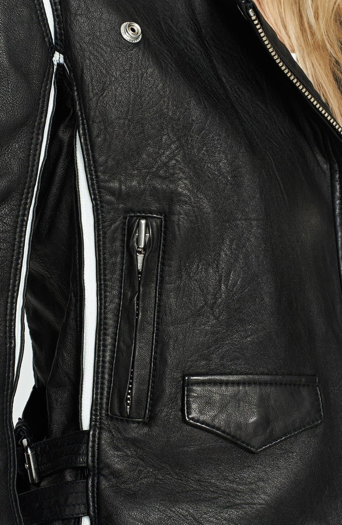 Alternate Image 4  - IRO 'Ashvie' Leather Moto Jacket
