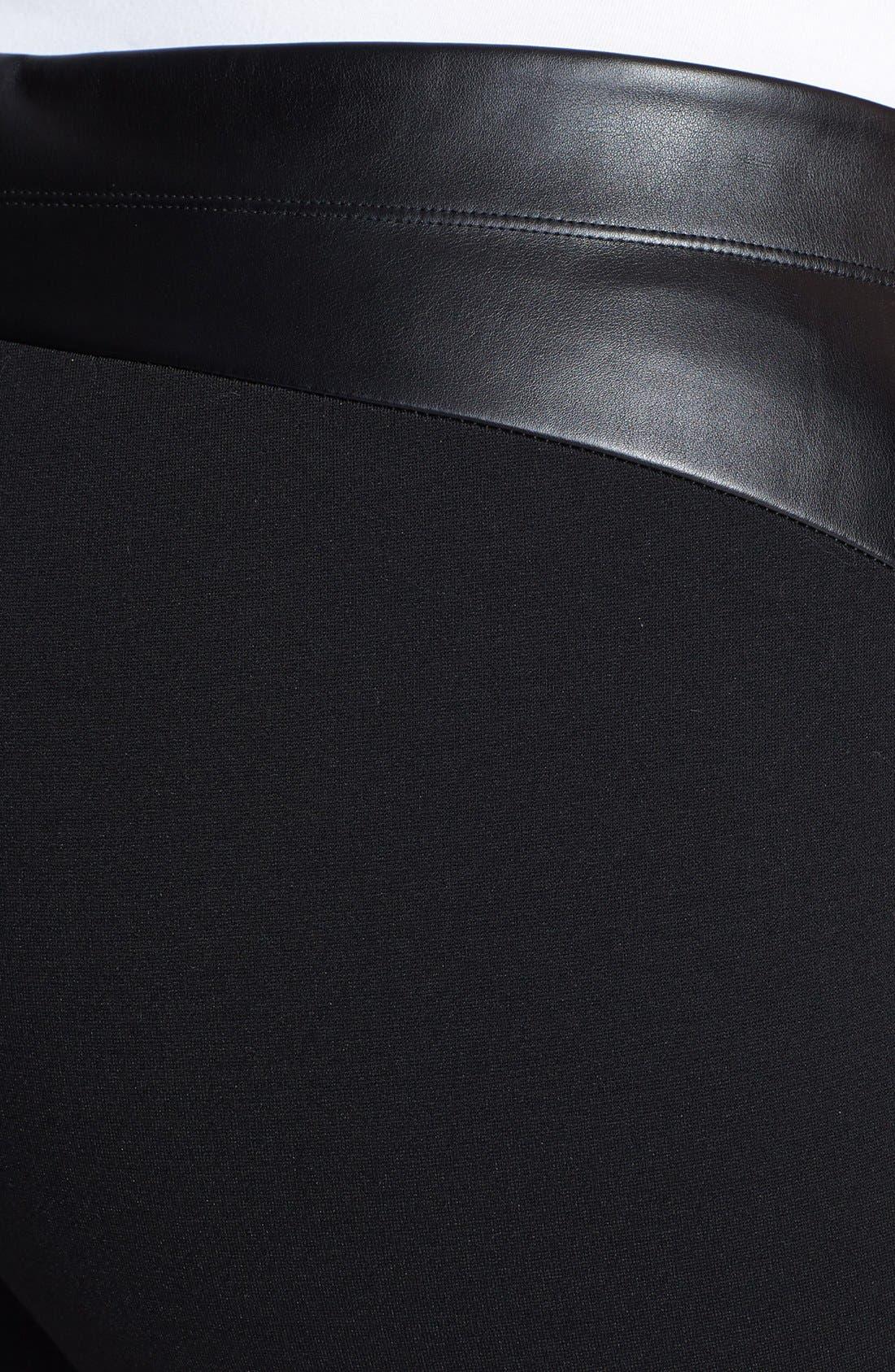 Alternate Image 3  - DKNYC Faux Leather Front Leggings (Plus Size)
