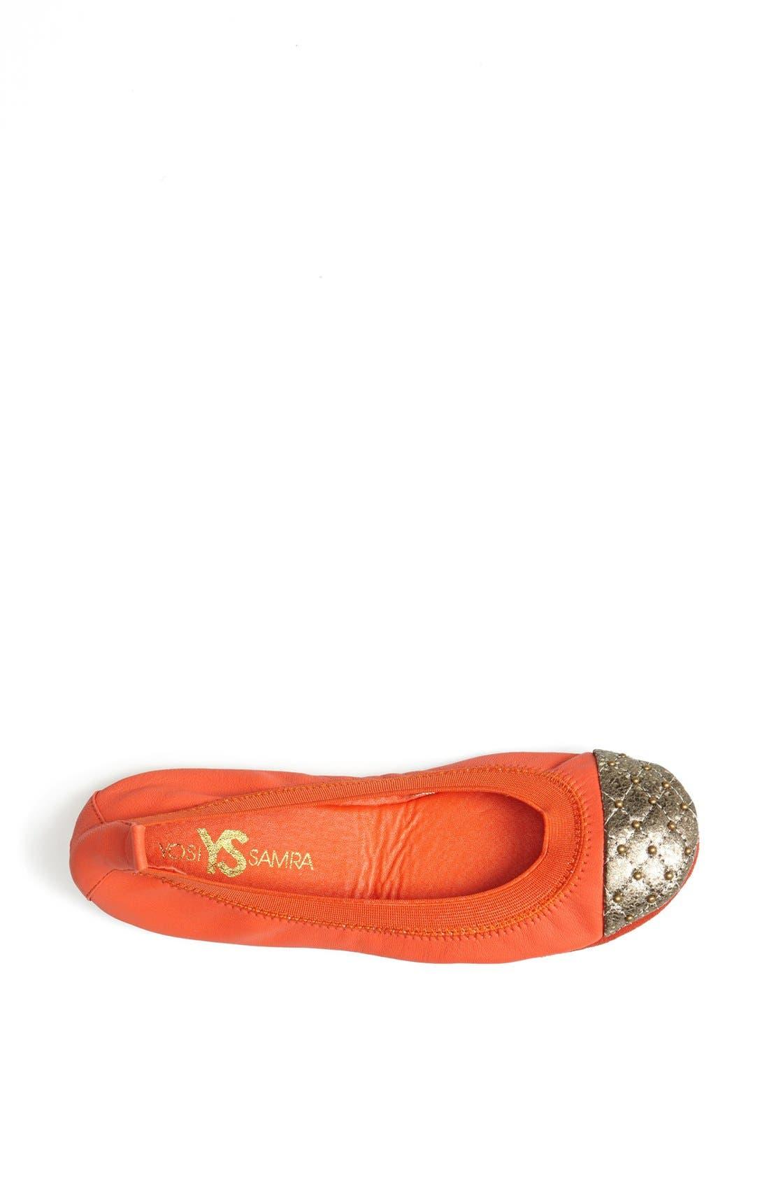 Alternate Image 3  - Yosi Samra Studded Cap Toe Foldable Ballet Flat
