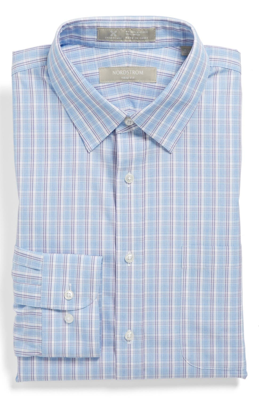 Main Image - Nordstrom Smartcare™ Wrinkle Free Trim Fit Dress Shirt