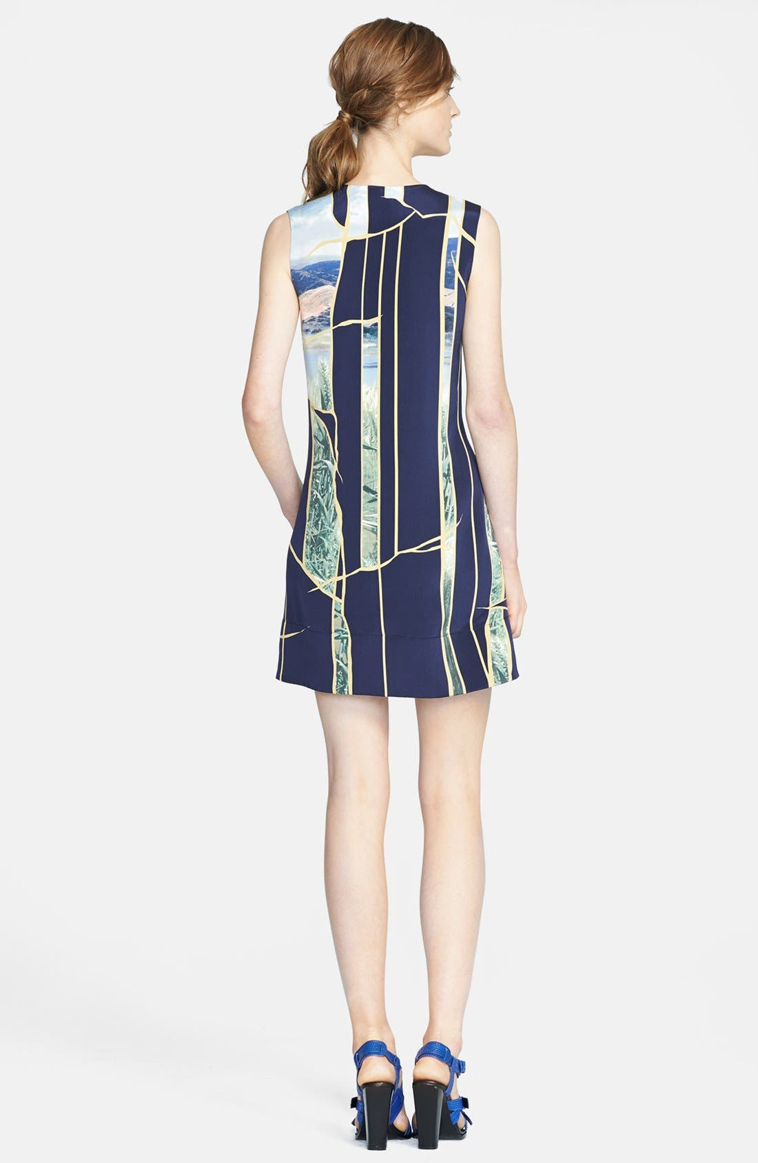 Alternate Image 2  - 3.1 Phillip Lim Gathered Front Print Silk Dress