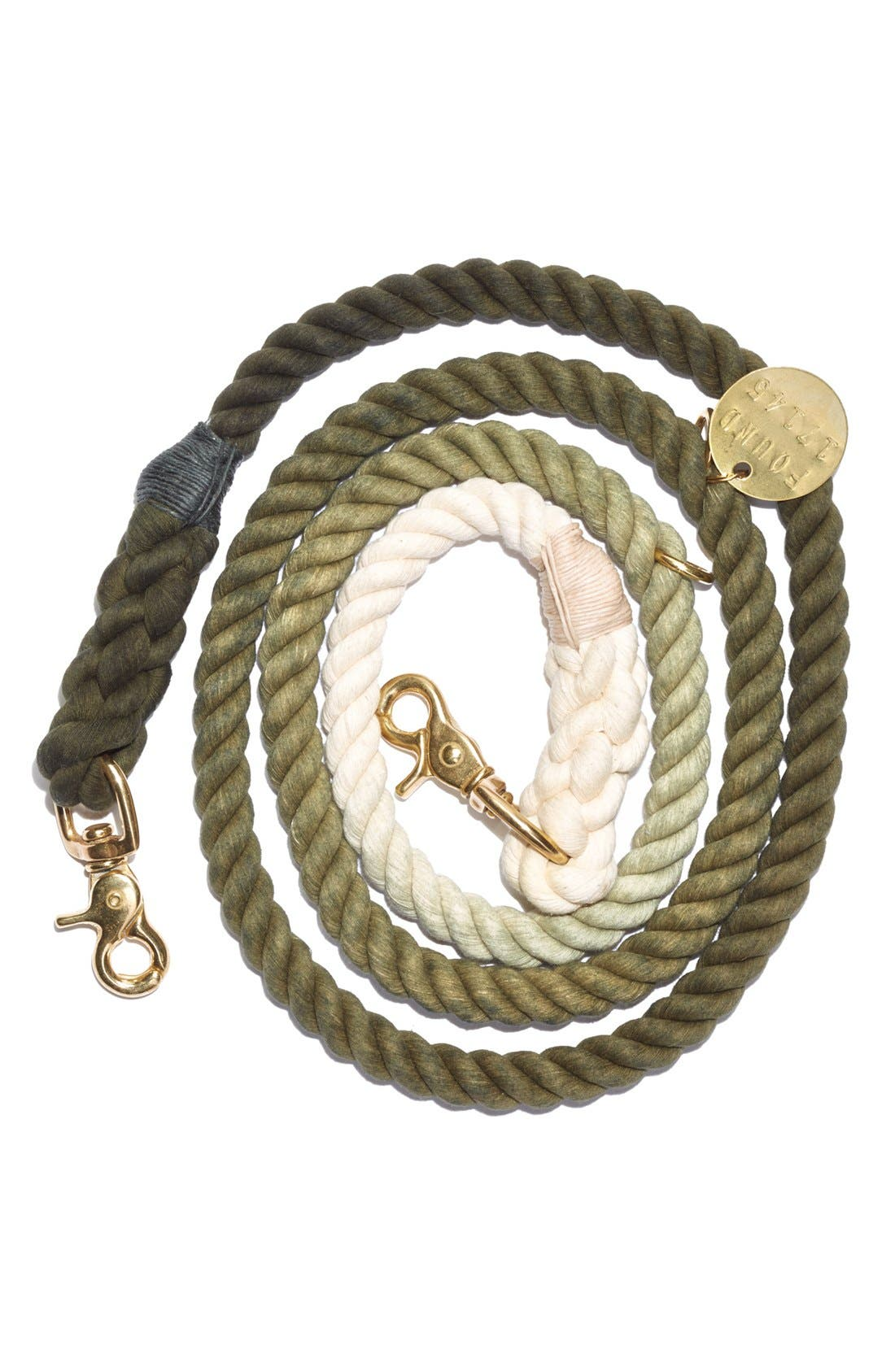 Adjustable Ombré Pet Leash,                         Main,                         color, Olive Ombre