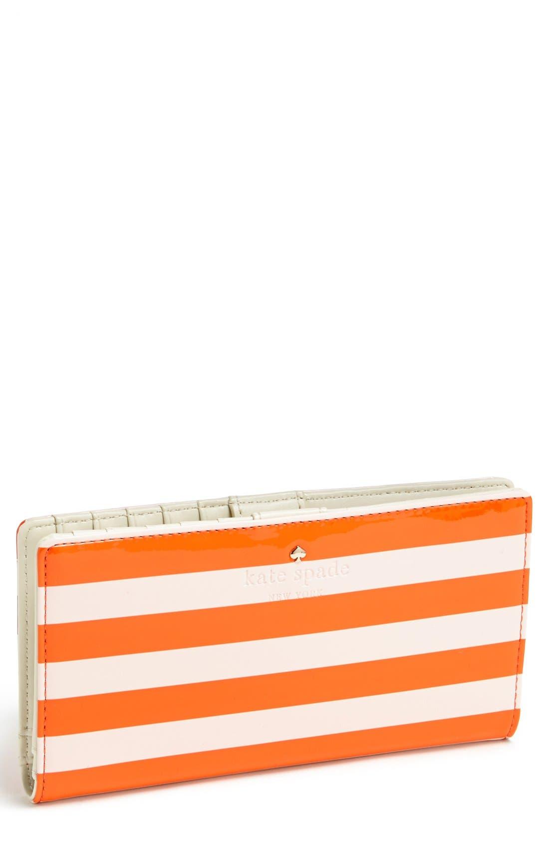 'harrison street stripe - stacy' wallet,                         Main,                         color, Blush/ Surprise Orange