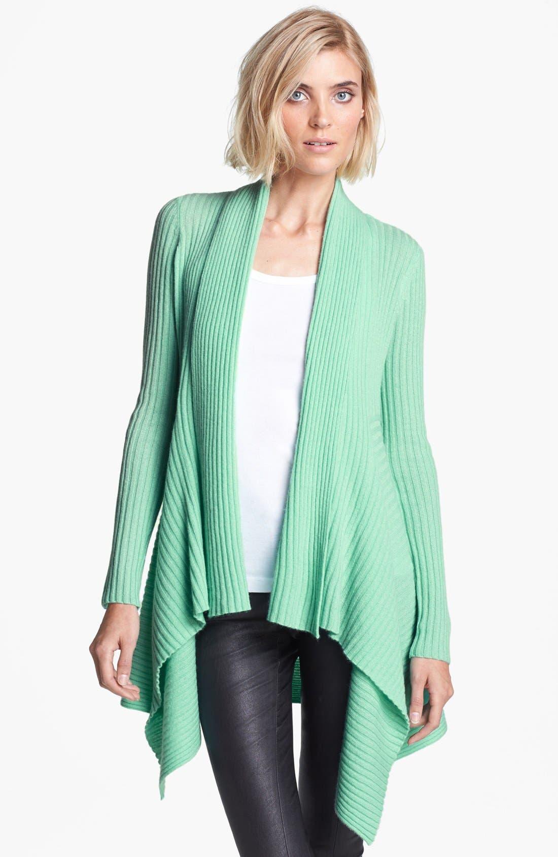 Alternate Image 1 Selected - autumn cashmere Draped Rib Knit Cashmere Cardigan