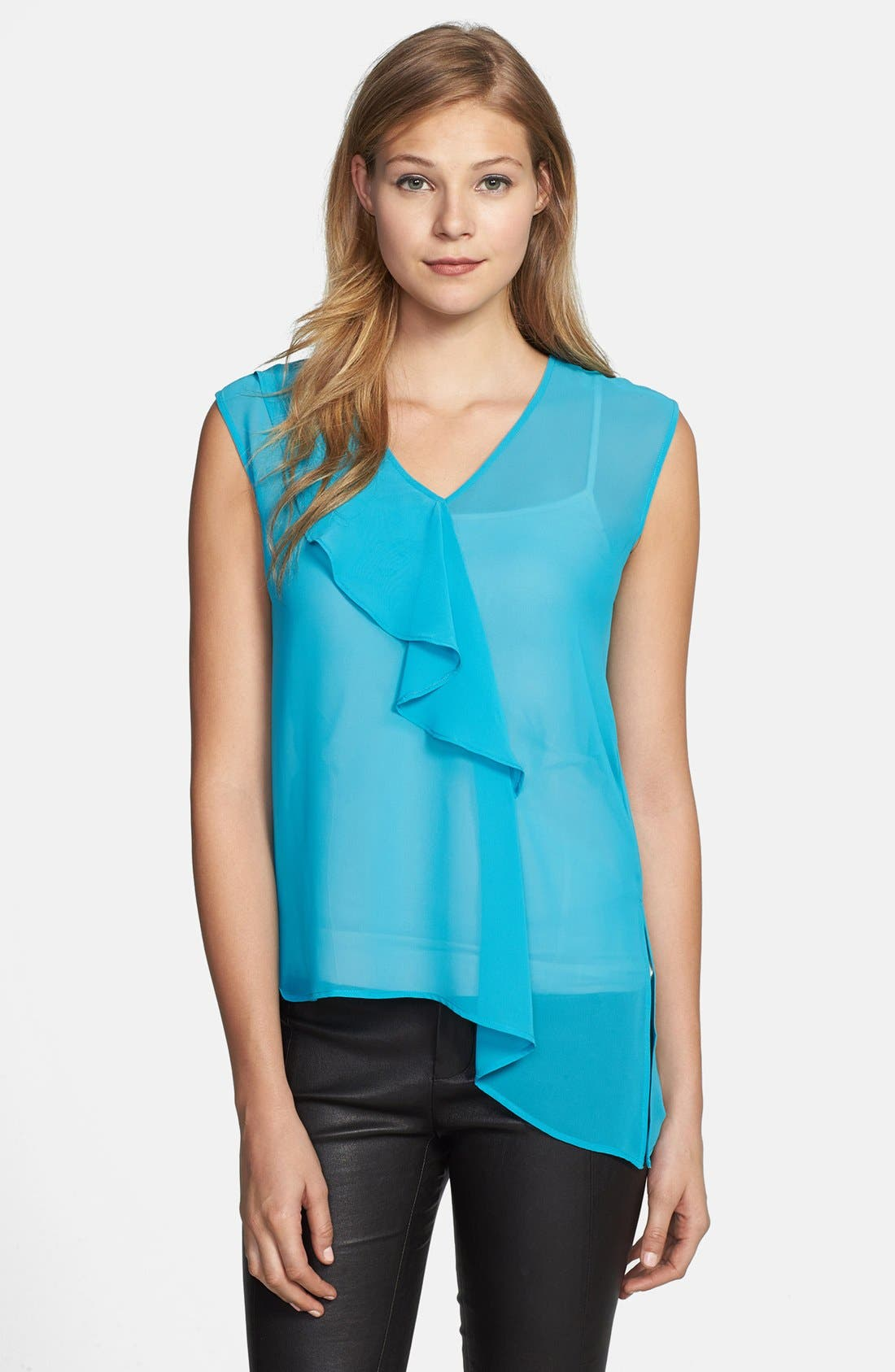Main Image - Kenneth Cole New York 'Roxanne' Asymmetrical Ruffle Front Blouse