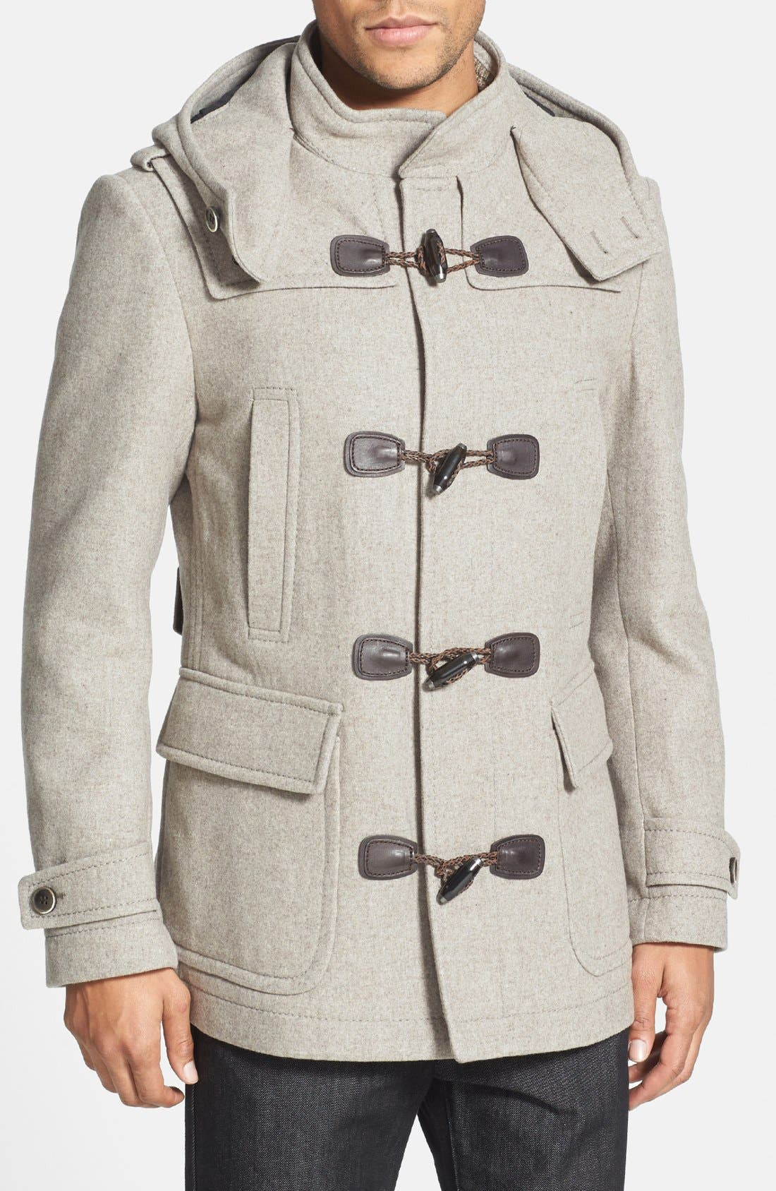 Main Image - BOSS HUGO BOSS 'Capez' Wool Blend Duffle Coat