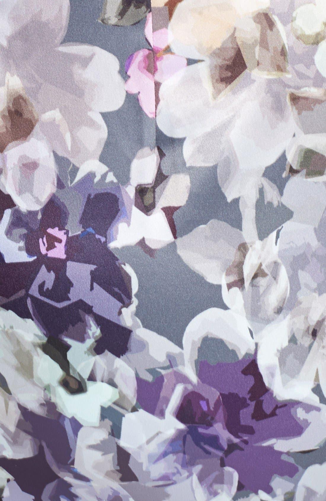 Alternate Image 4  - Ivy & Blu Print Side Pleat Sheath Dress
