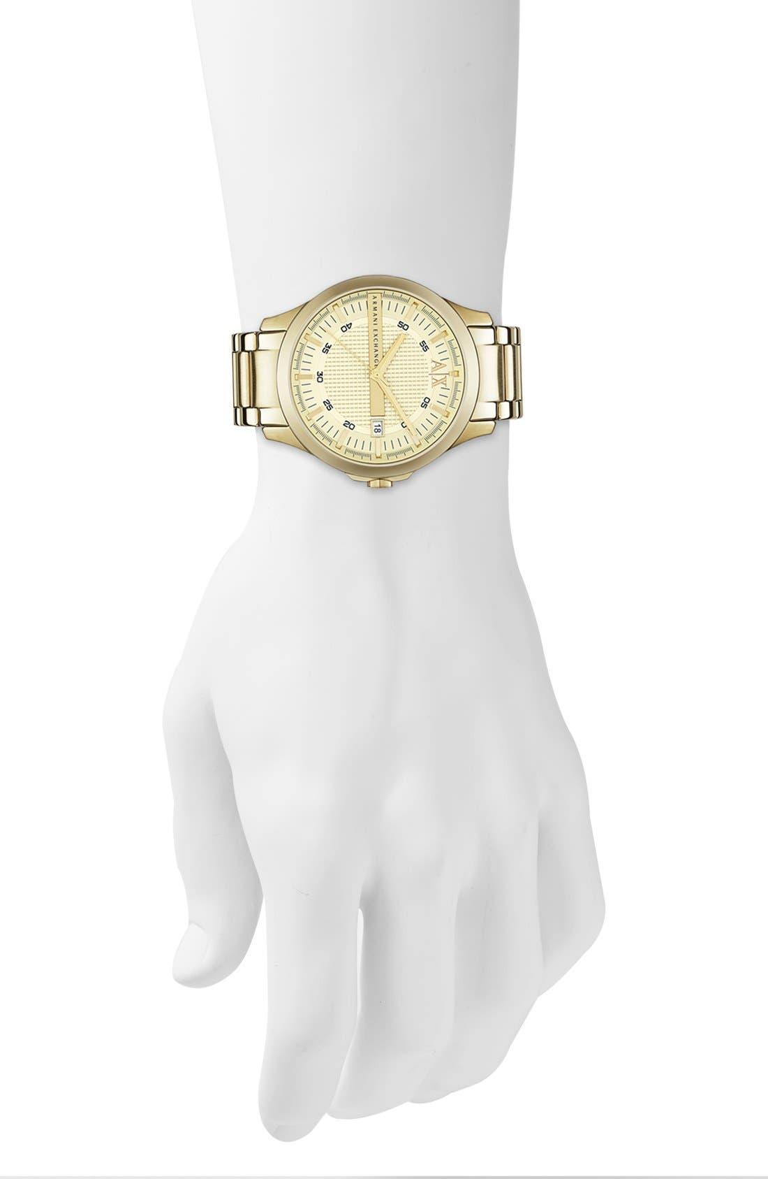 Alternate Image 4  - AX Armani Exchange Bracelet Watch, 46mm