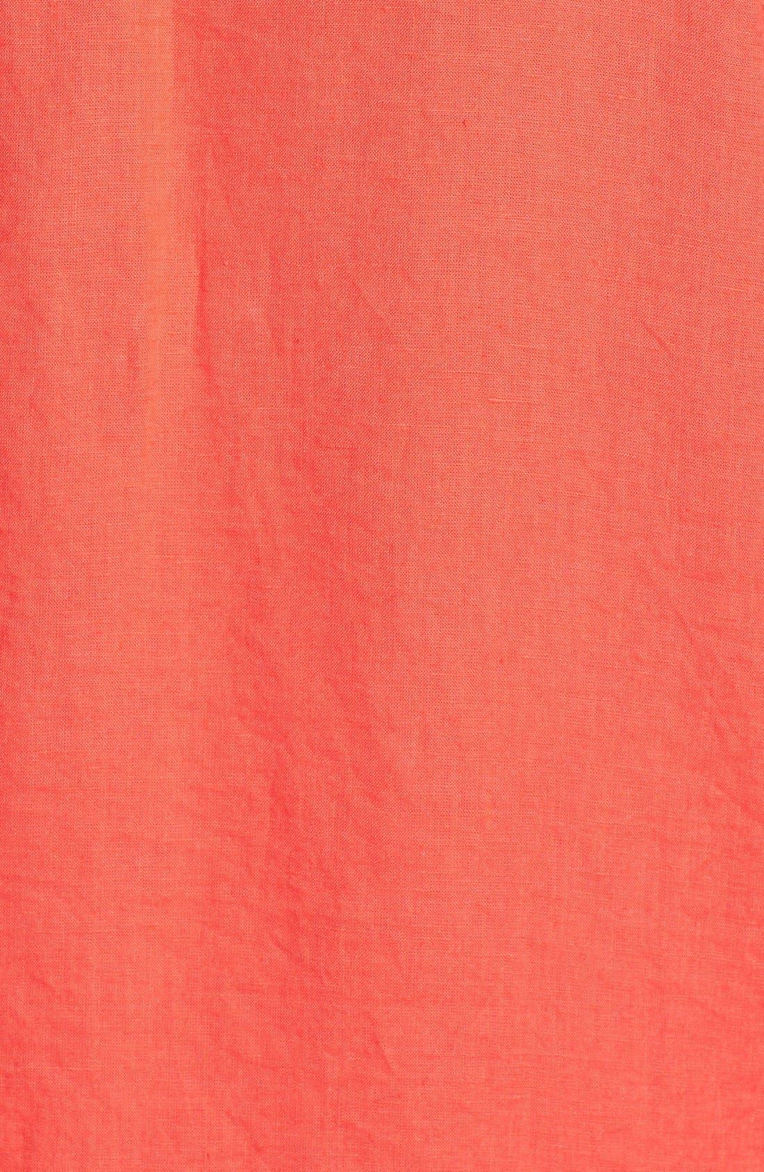 Alternate Image 3  - Eileen Fisher Mandarin Collar Linen Shirt (Plus Size)