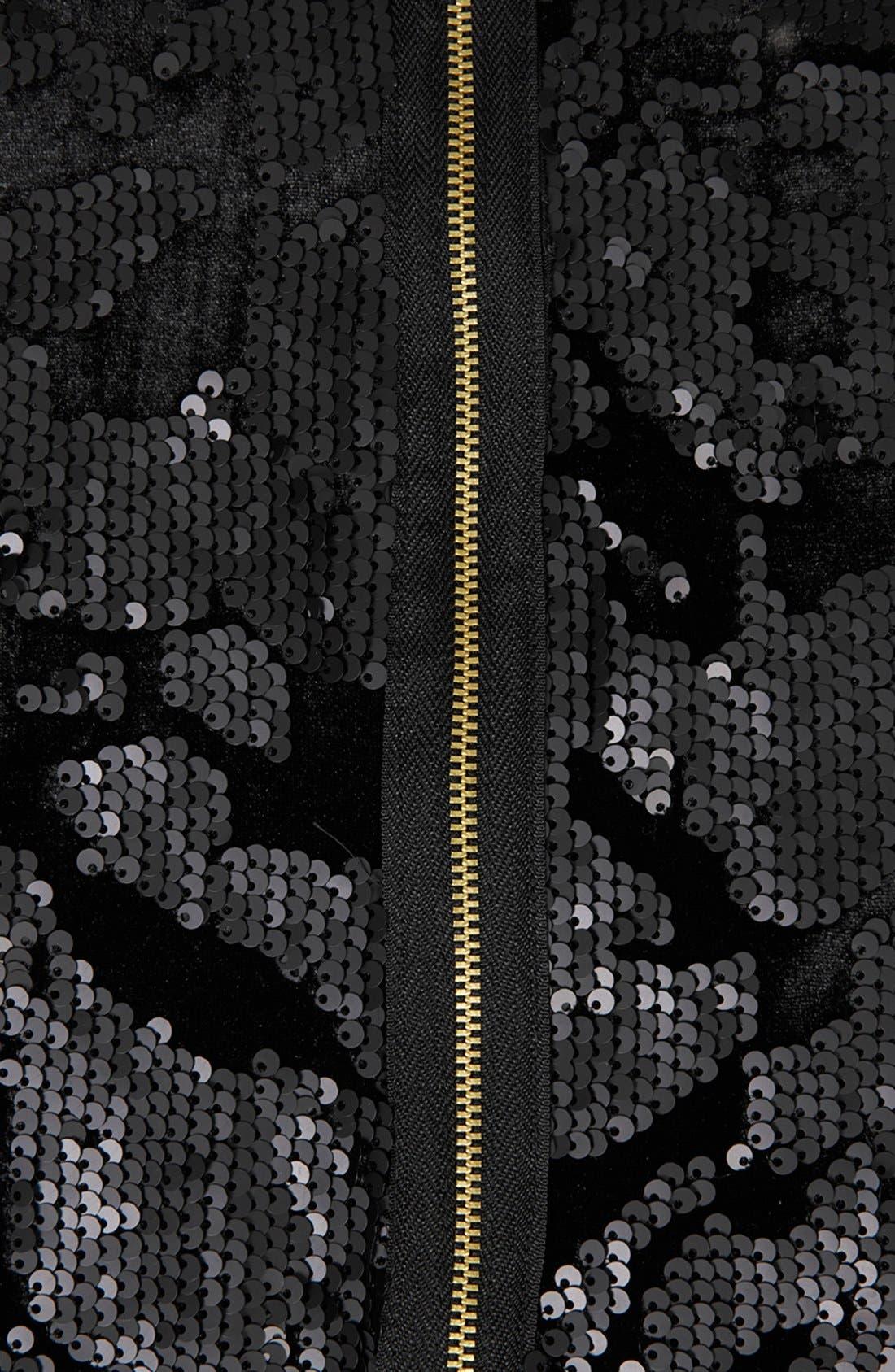 Alternate Image 4  - Topshop Sequin Velvet Shift Dress