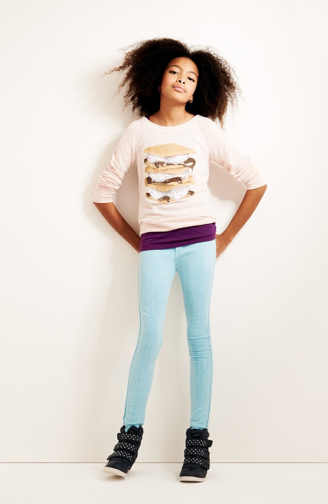 Alternate Image 2  - Ten Sixty Sherman 'Foodie' Graphic Sweatshirt (Big Girls)