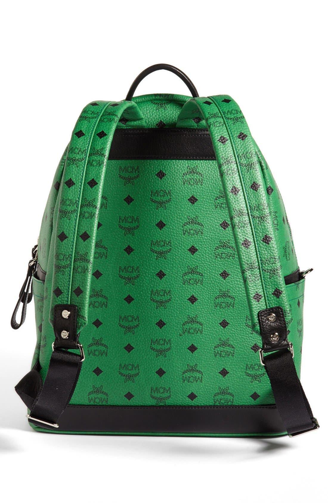 Alternate Image 4  - MCM 'Studded - Medium' Coated Canvas Backpack