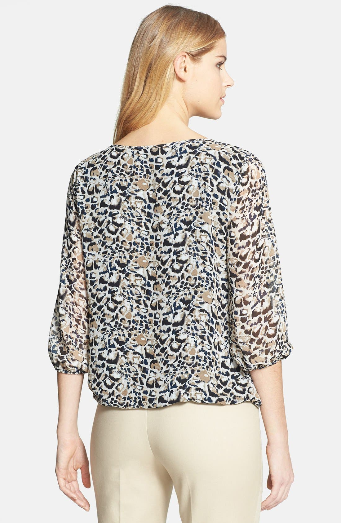 Alternate Image 2  - Vince Camuto 'Animal Rocks' Wrap Front Blouse