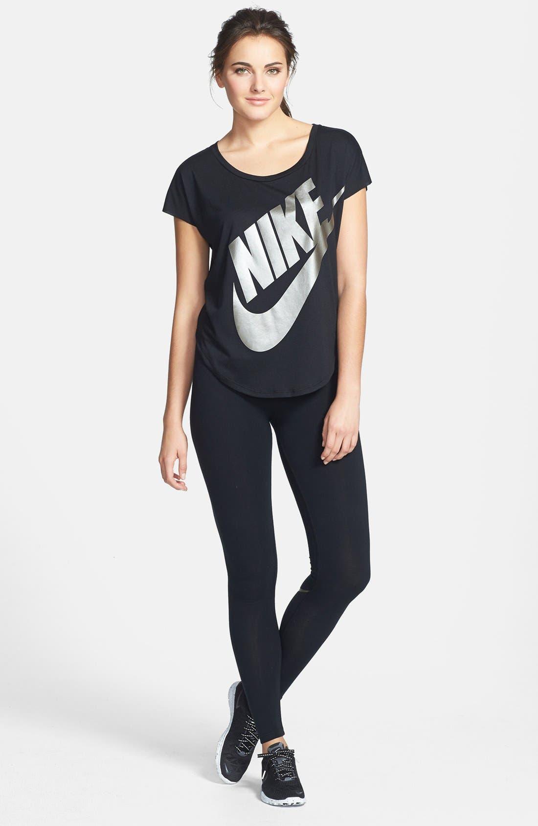 Alternate Image 3  - Nike 'Signal' Logo Scoop Neck Tee