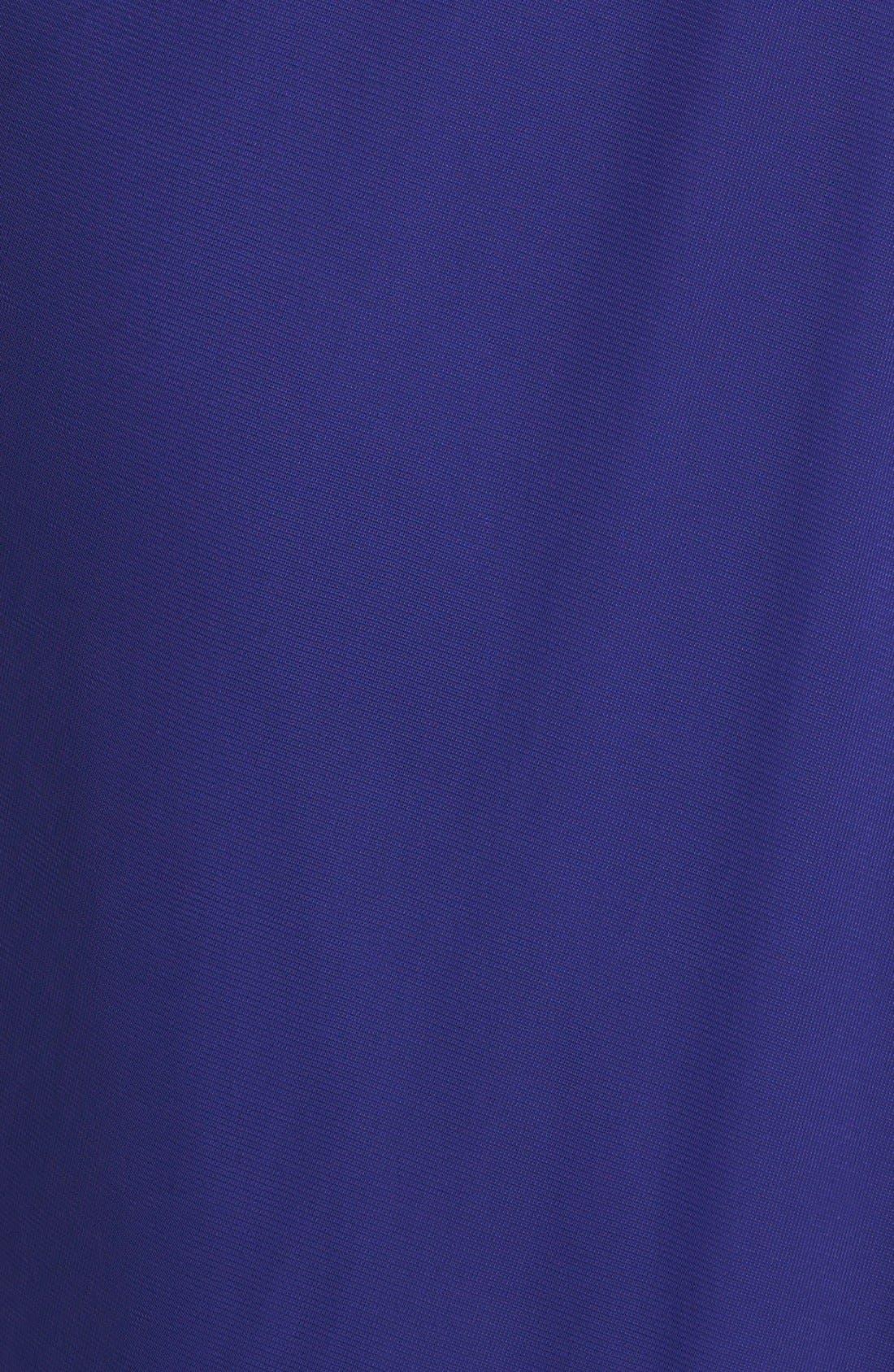 Alternate Image 3  - Adrianna Papell Draped Chiffon Gown (Petite)