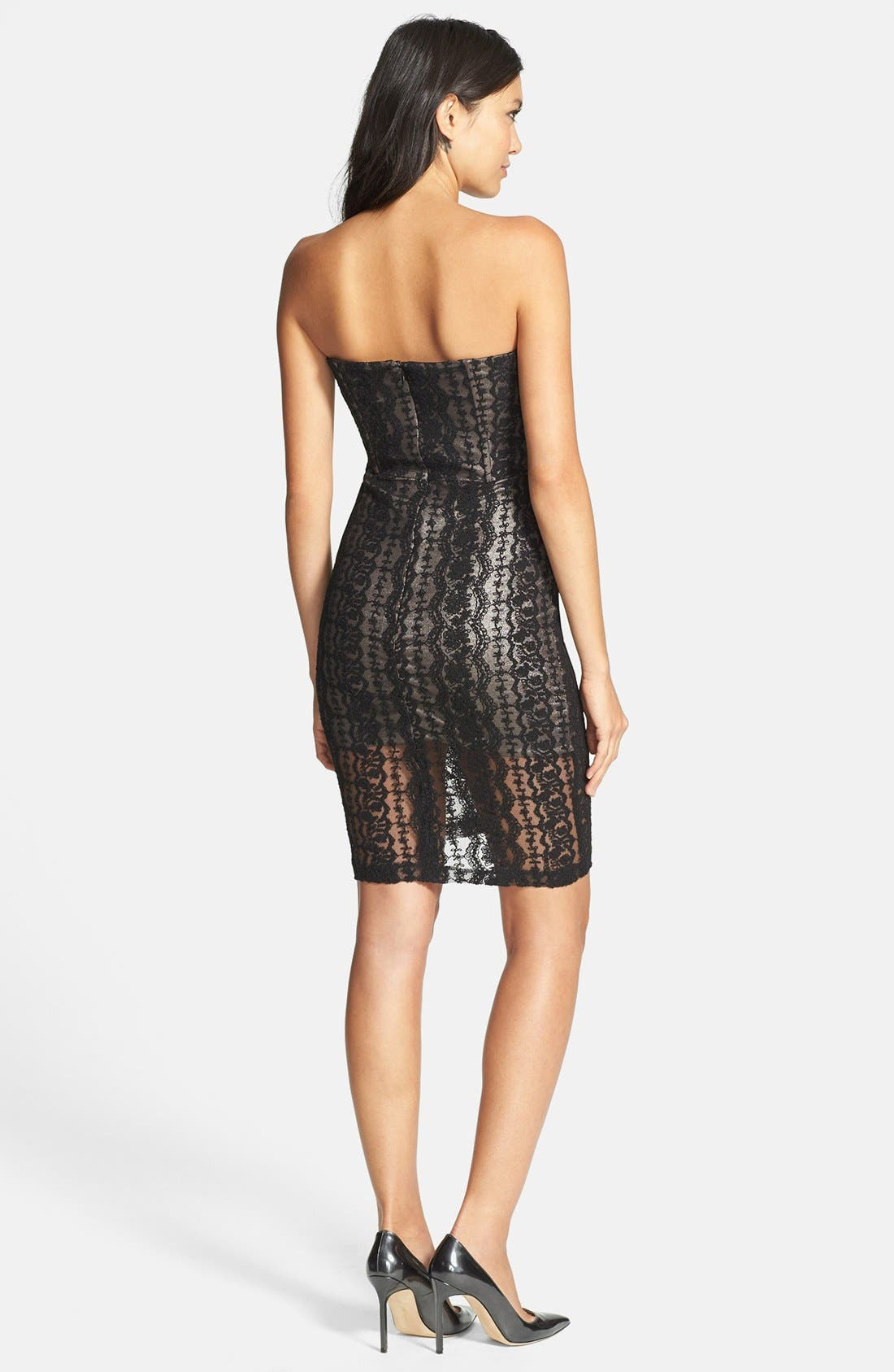 Alternate Image 2  - Lucca Couture Strapless Lace Dress
