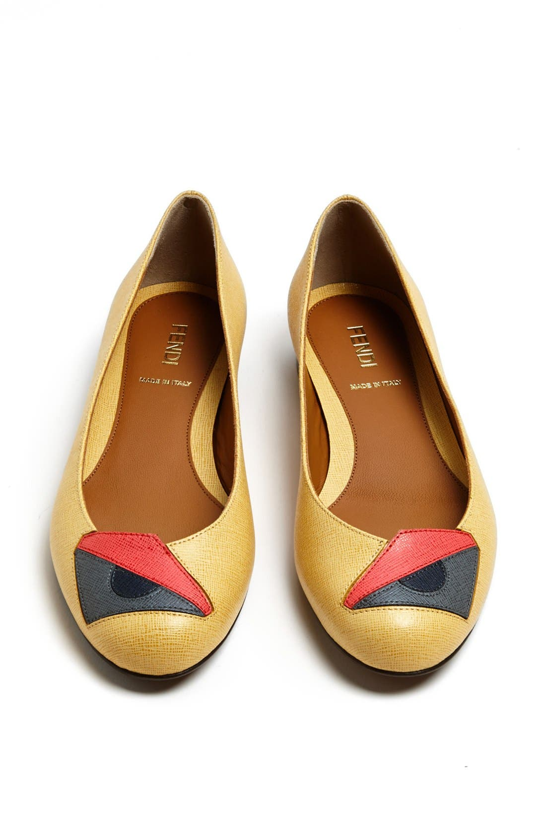 Alternate Image 3  - Fendi 'Monster' Saffiano Flat