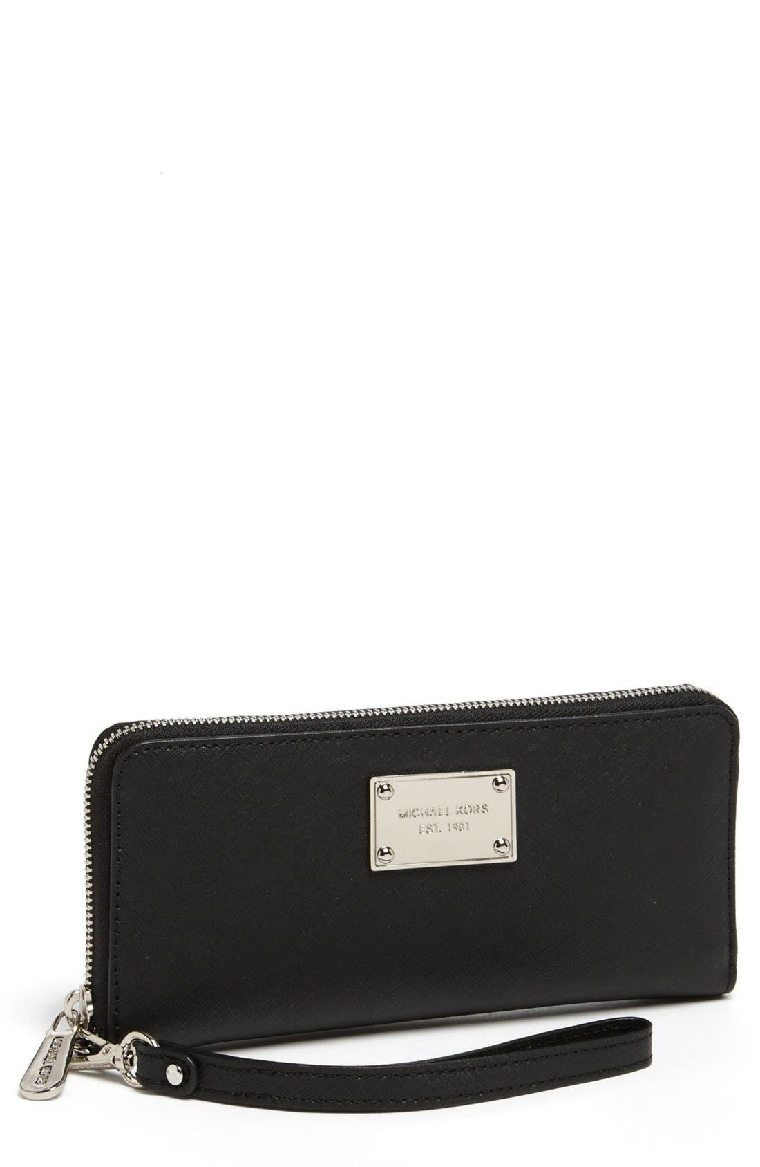 Alternate Image 1 Selected - MICHAEL Michael Kors 'Tech Continental' Leather Wallet