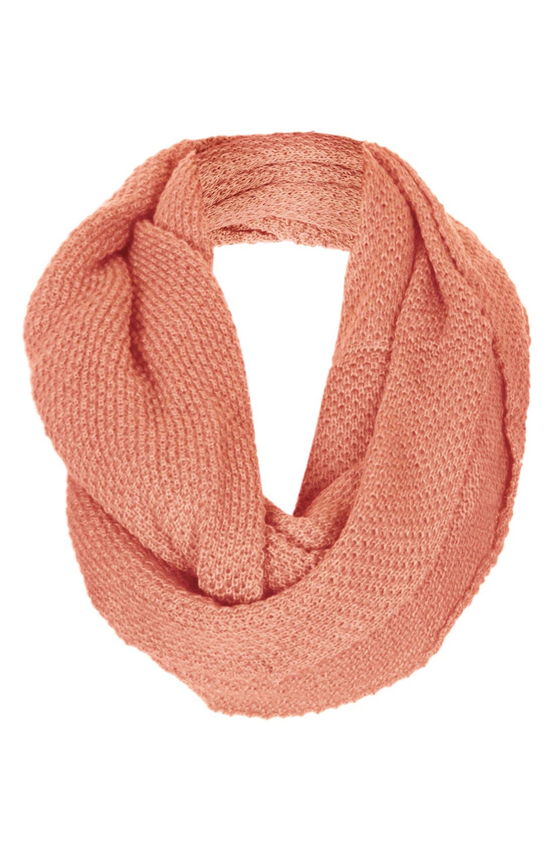 Alternate Image 1 Selected - Topshop Basket Stitch Infinity Scarf