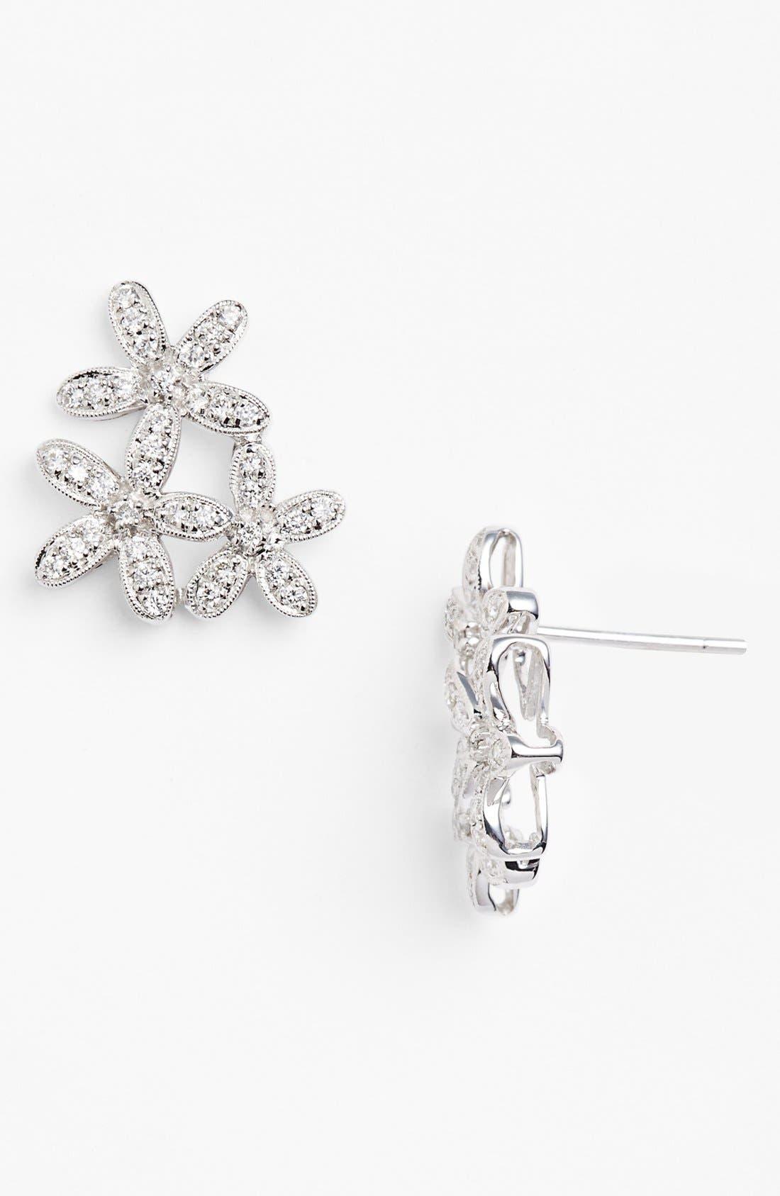 Alternate Image 1 Selected - Dana Rebecca Designs 'Agnes Fortune' Diamond Flower Stud Earrings