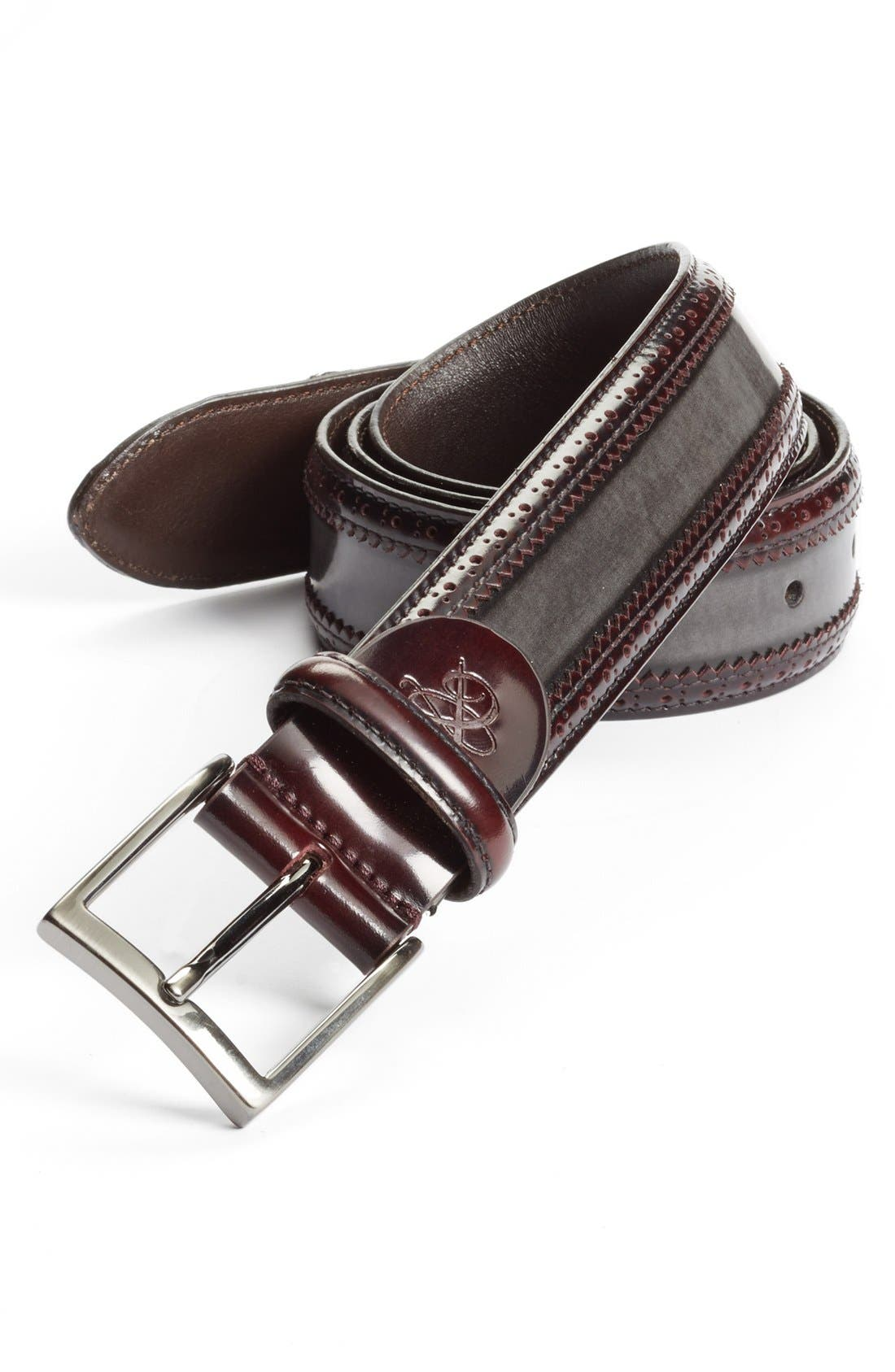 Alternate Image 1 Selected - Canali Leather Belt