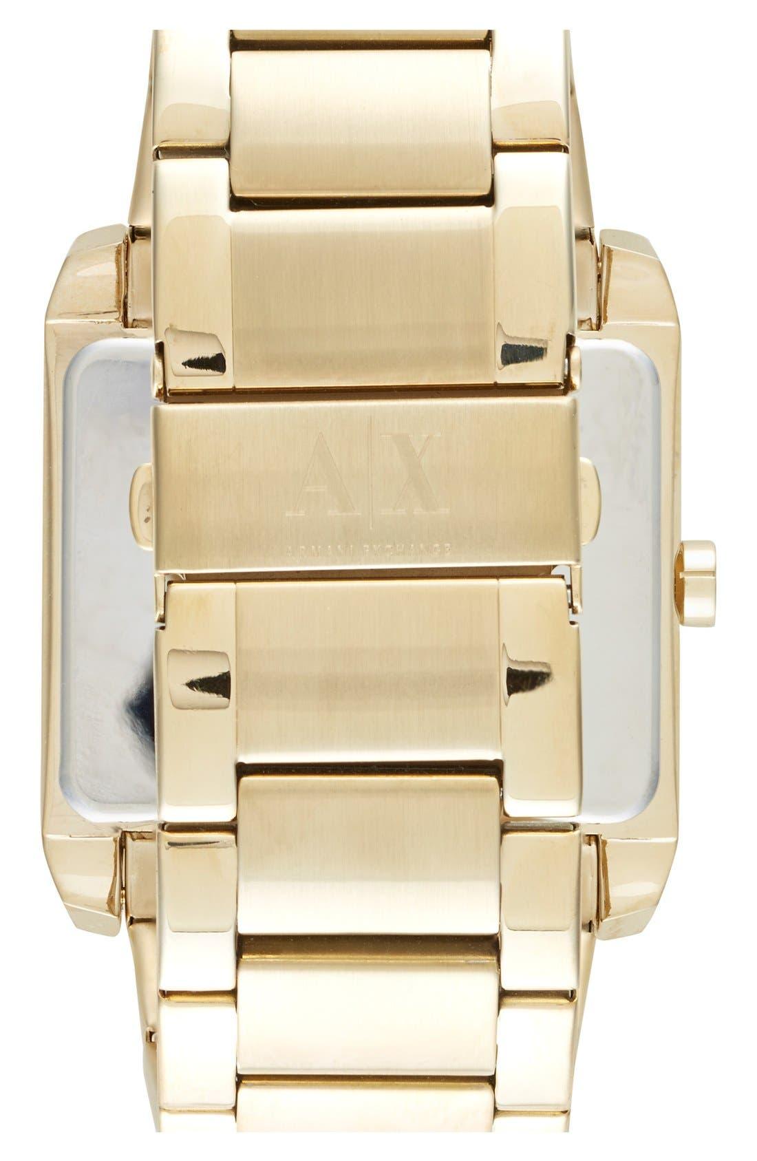 Alternate Image 2  - AX Armani Exchange Rectangular Bracelet Watch