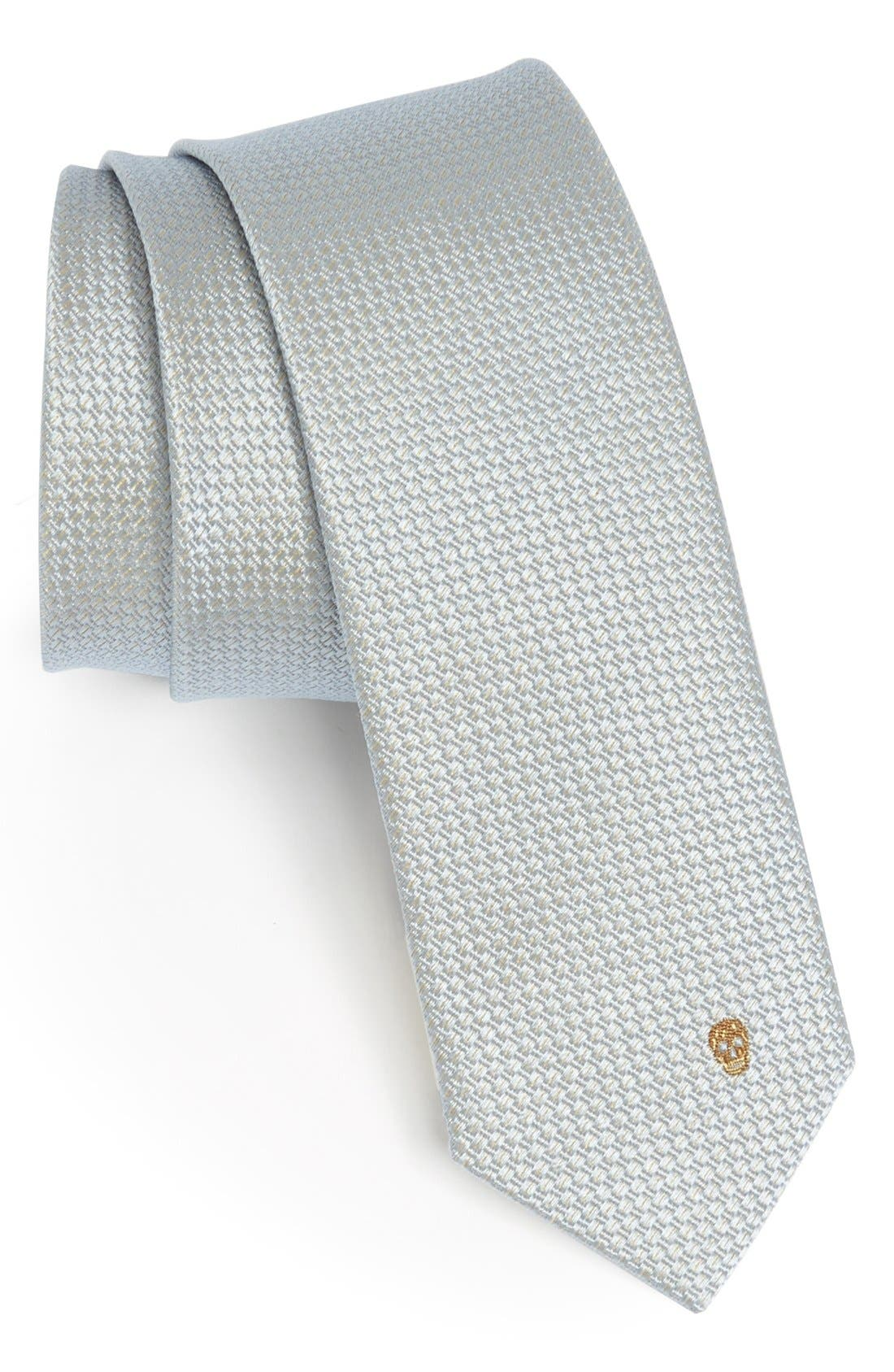 Alternate Image 1 Selected - Alexander McQueen Woven Silk Tie