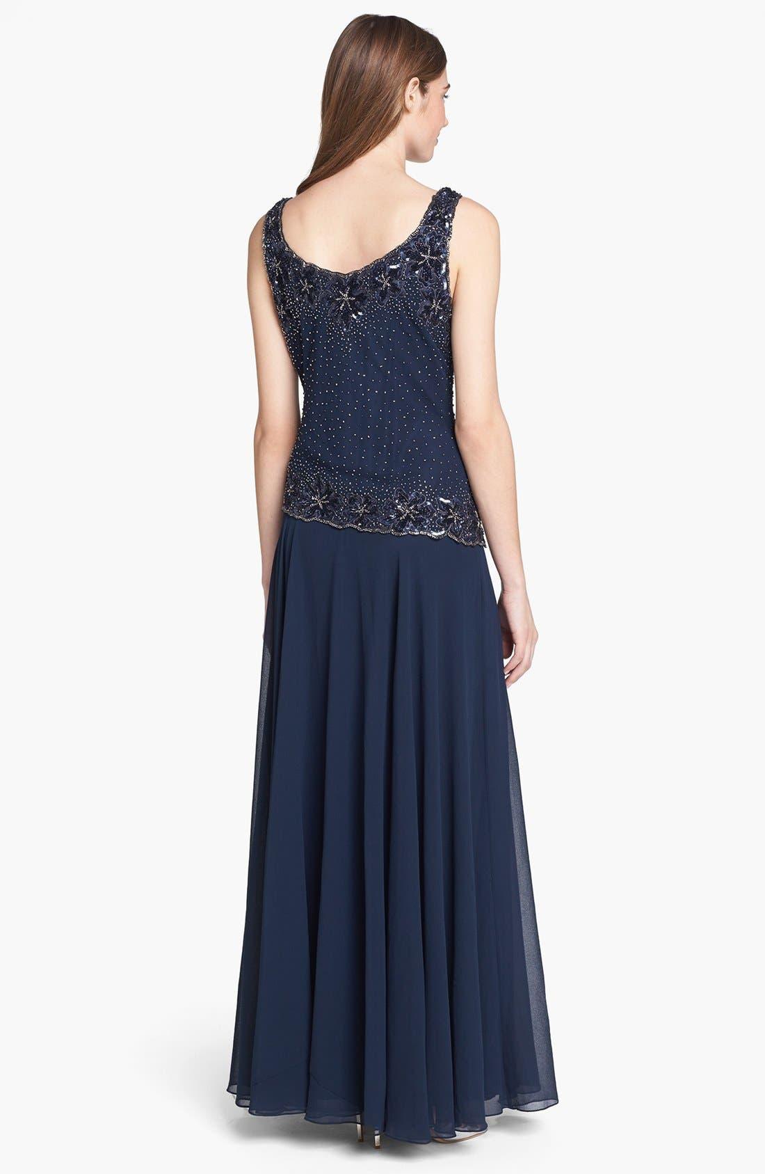 Alternate Image 2  - J Kara Embellished Chiffon Dress & Bolero
