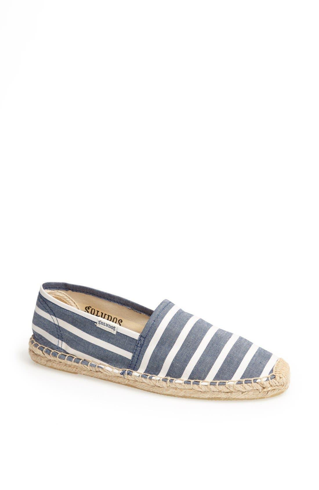 'Classic' Espadrille Slip-On,                         Main,                         color, Light Navy/ White