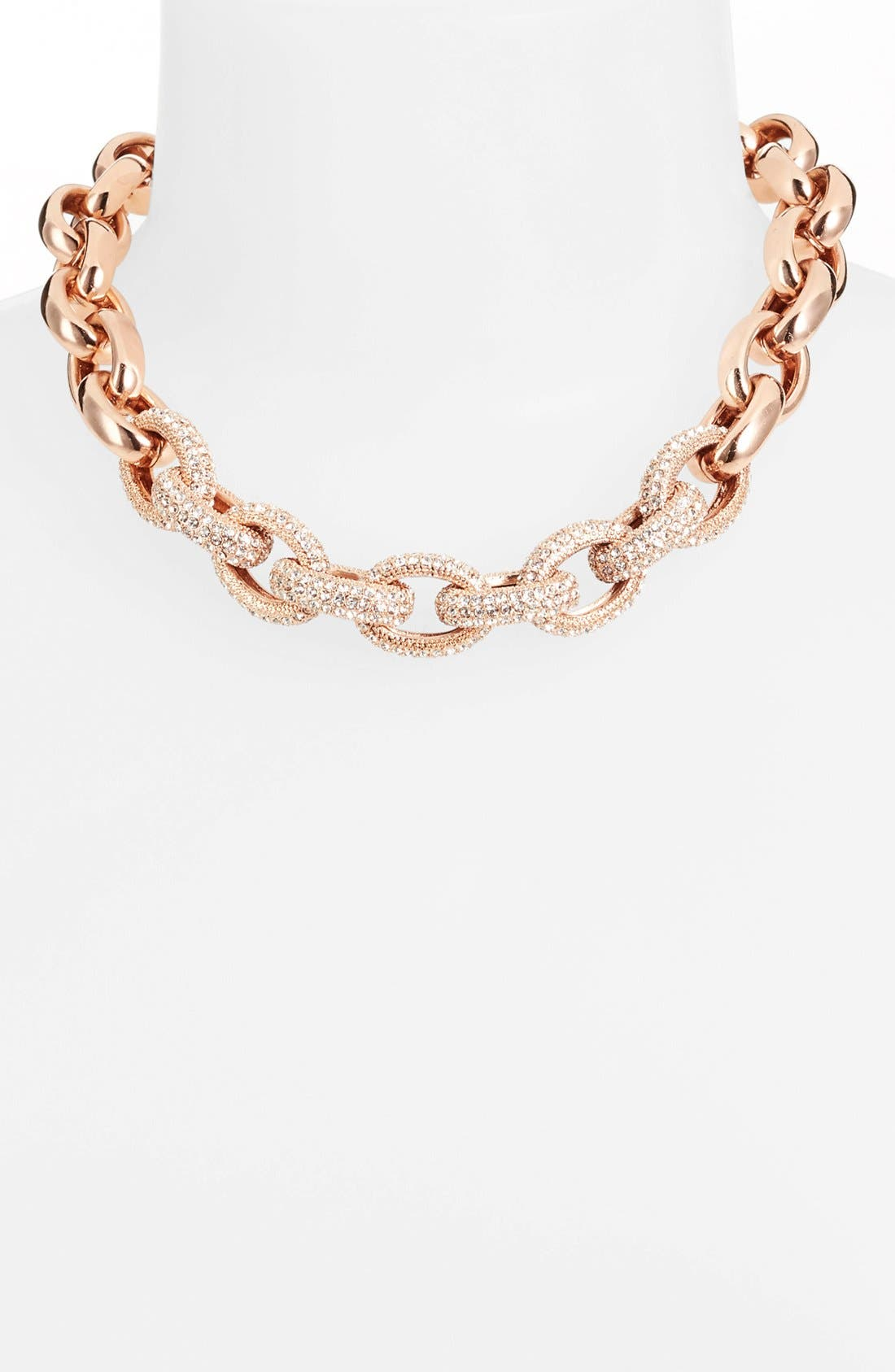 Main Image - Nordstrom Pavé Link Collar Necklace