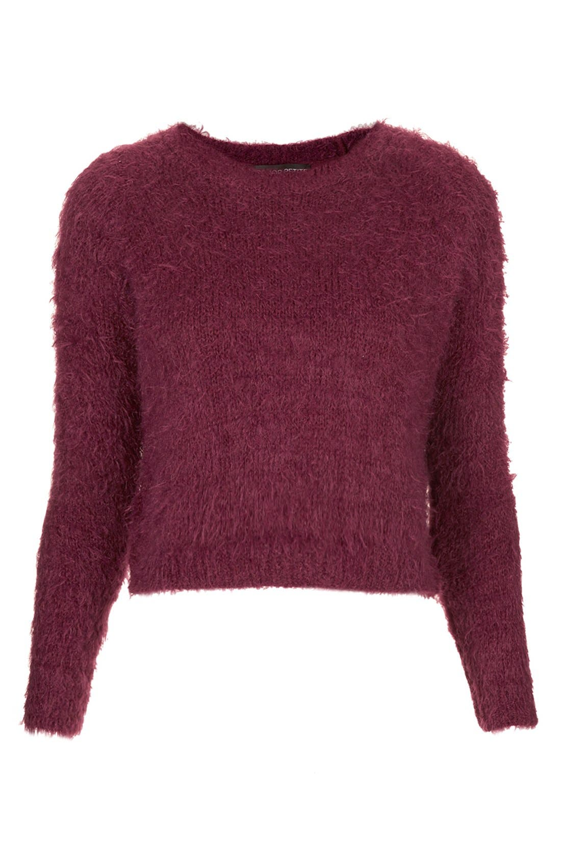 Alternate Image 3  - Topshop Textured Crewneck Sweater (Petite)