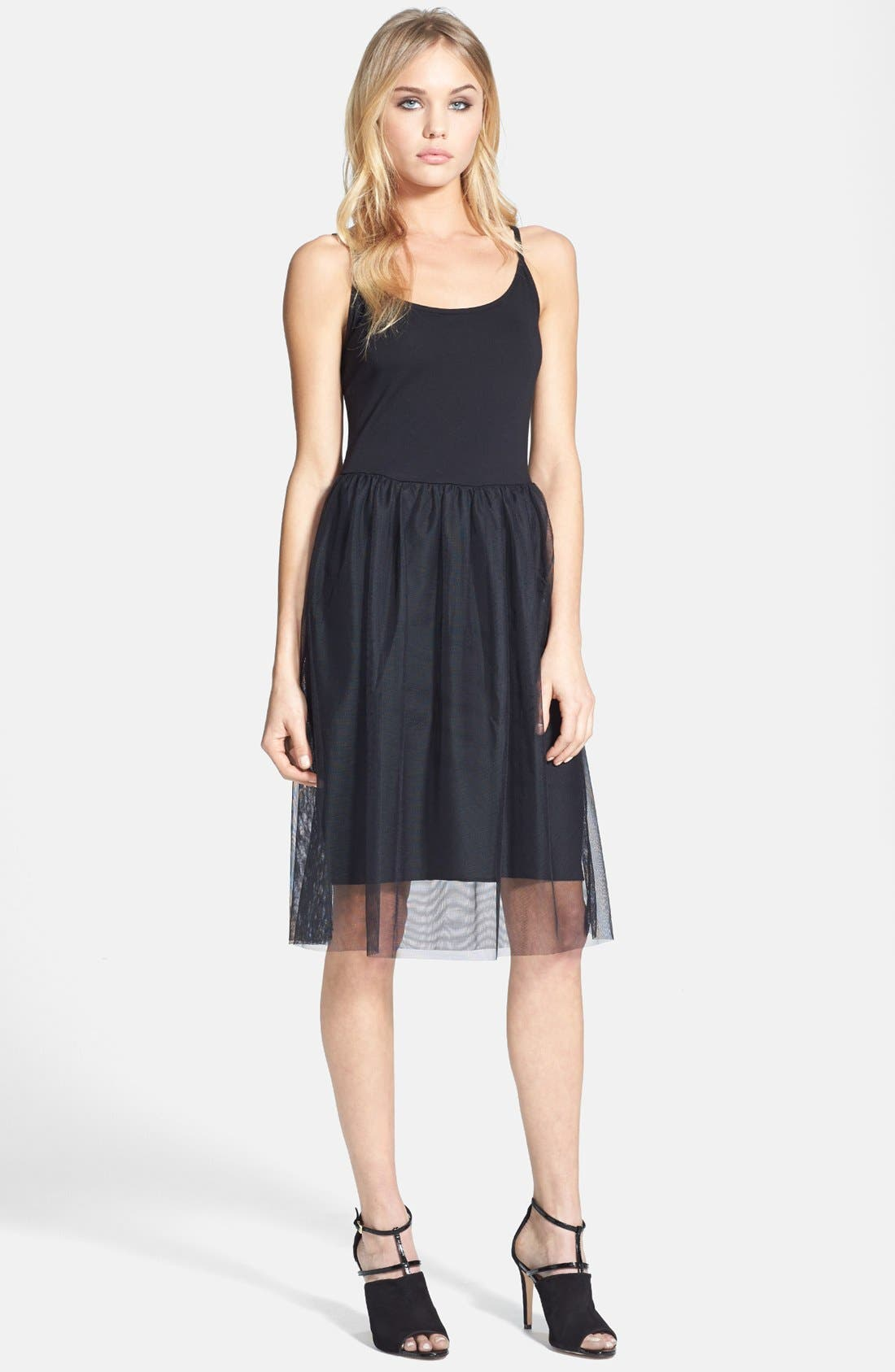 Alternate Image 1 Selected - Topshop Tulle Midi Dress
