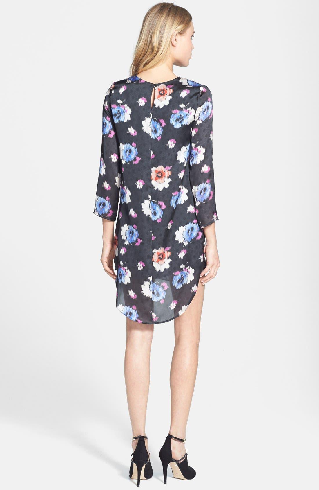 Alternate Image 2  - Topshop Floral Tunic Dress