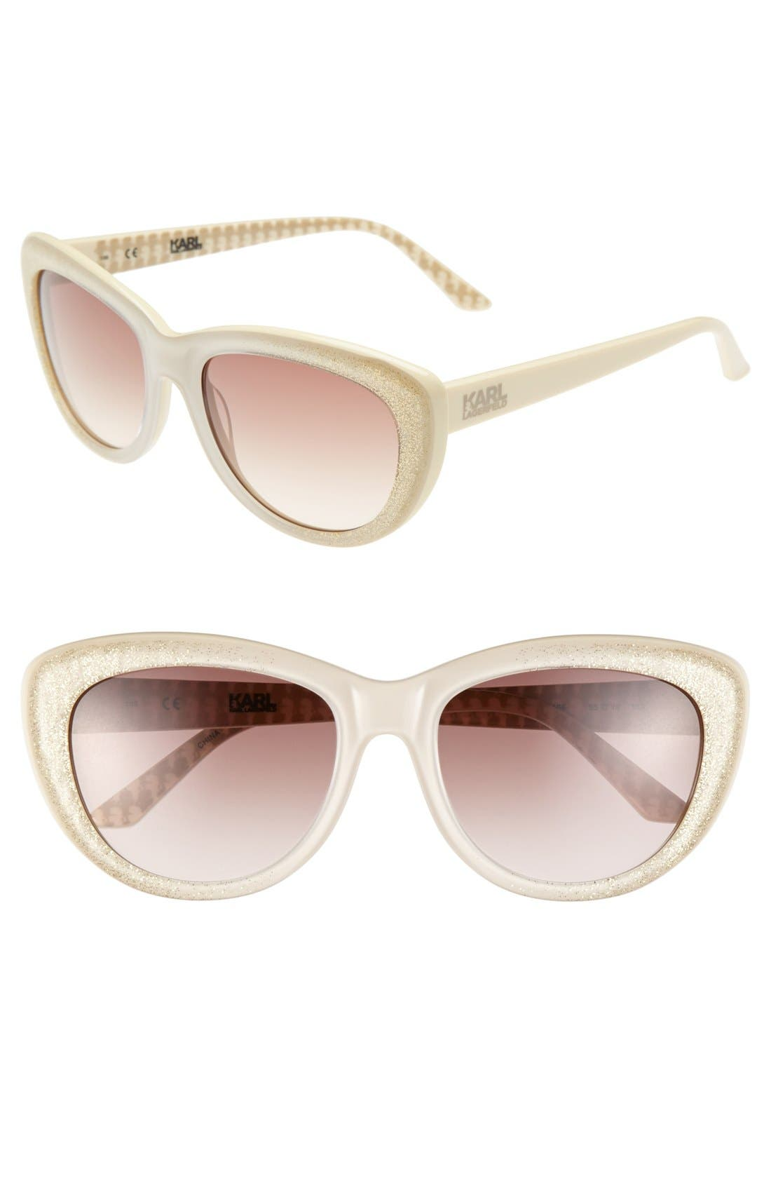 Main Image - Karl Lagerfeld 55mm Cat Eye Sunglasses