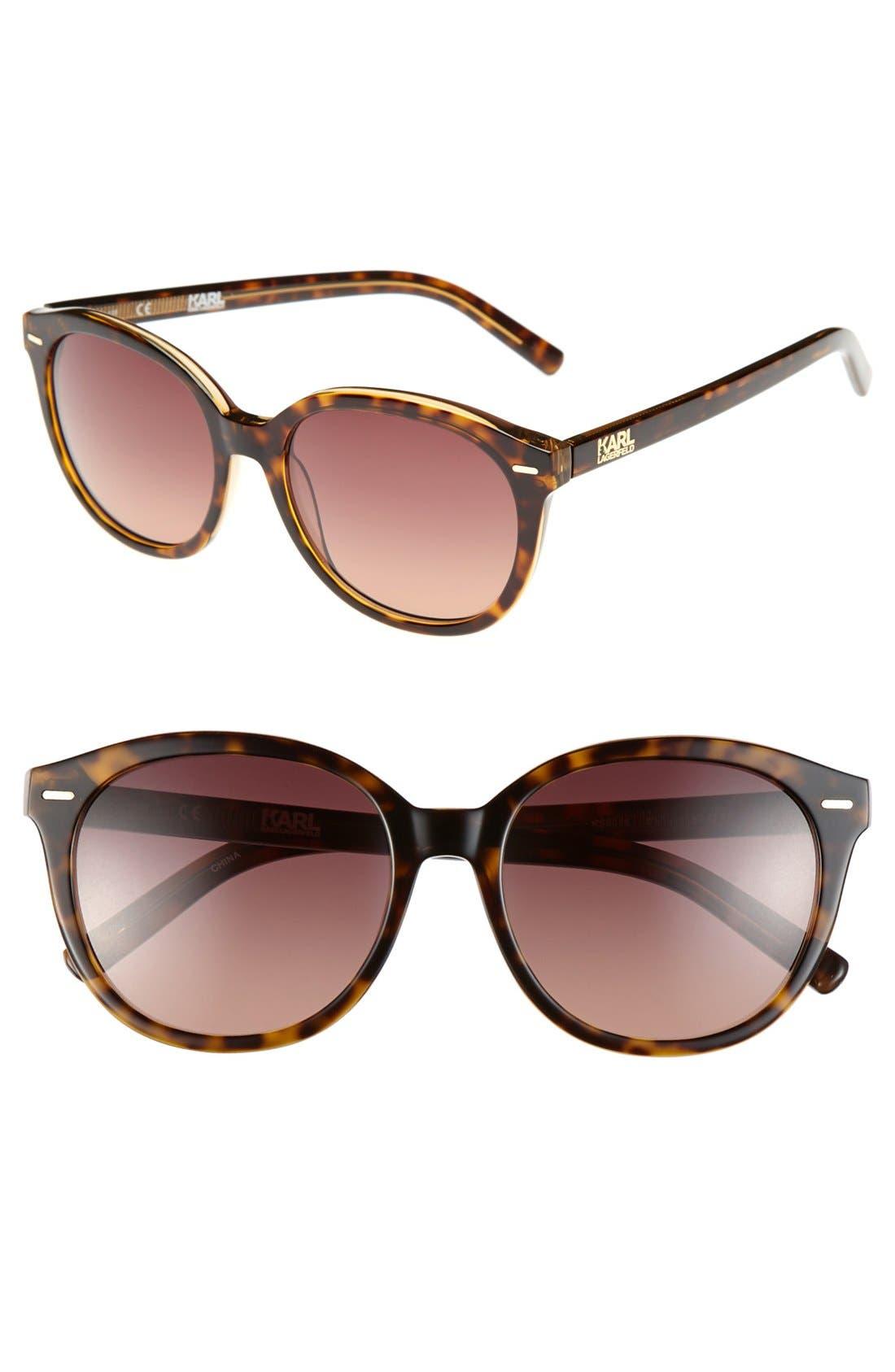 Alternate Image 1 Selected - Karl Lagerfeld 52mm Cat Eye Sunglasses