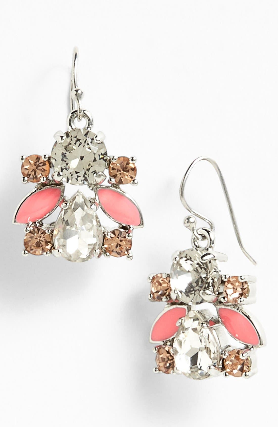 Main Image - kate spade new york 'frosty floral' drop earrings