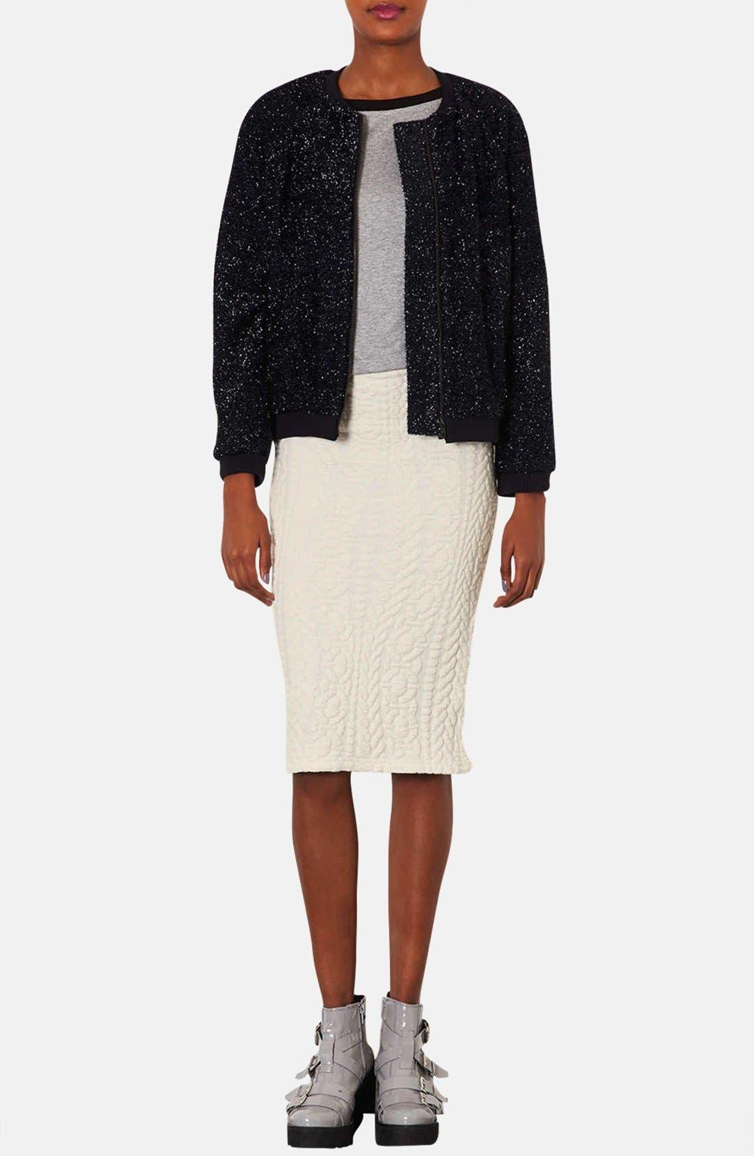 Alternate Image 4  - Topshop Jacquard Tube Skirt
