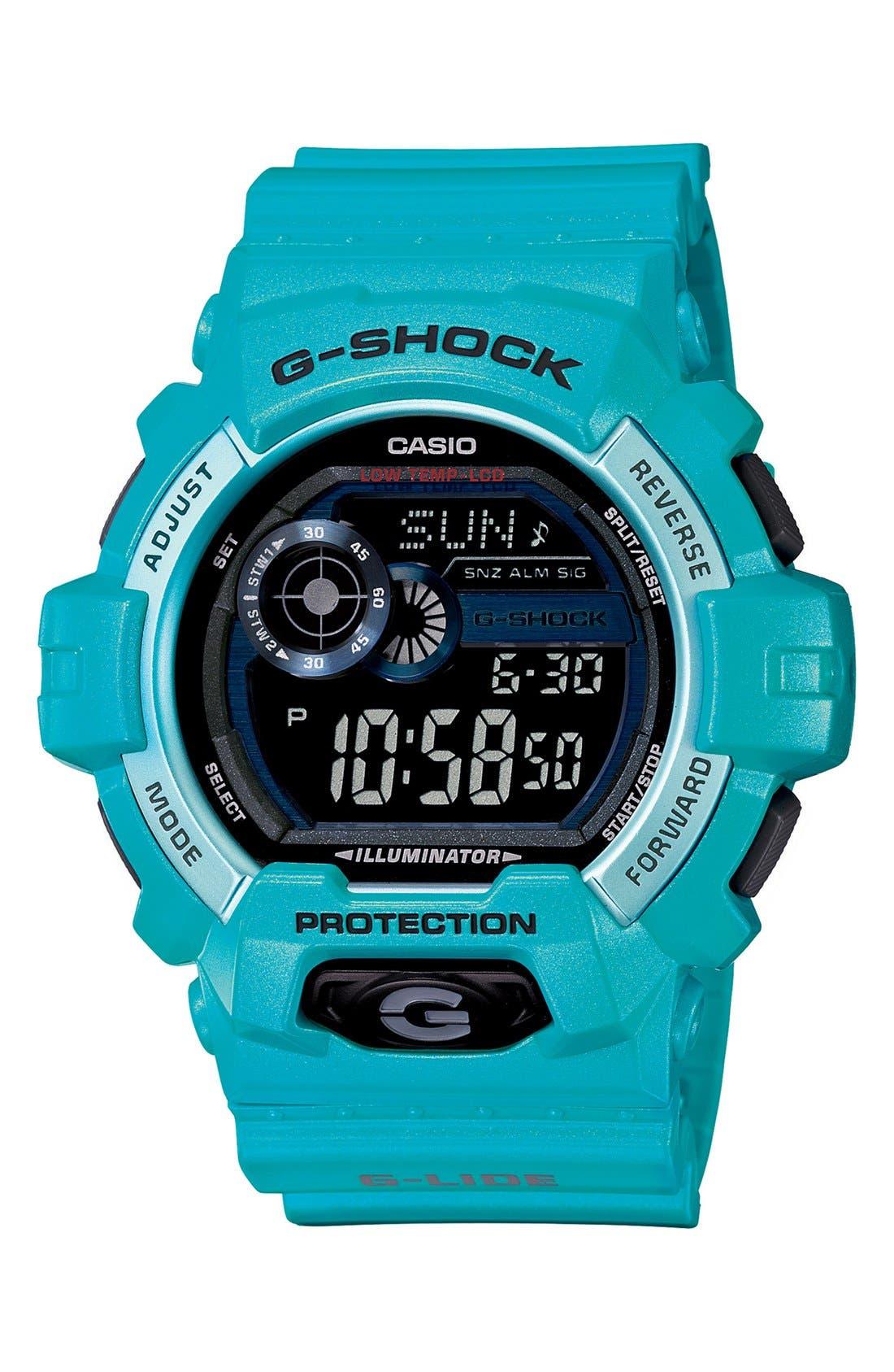 Main Image - G-Shock 'Glide Color' Digital Watch, 55mm