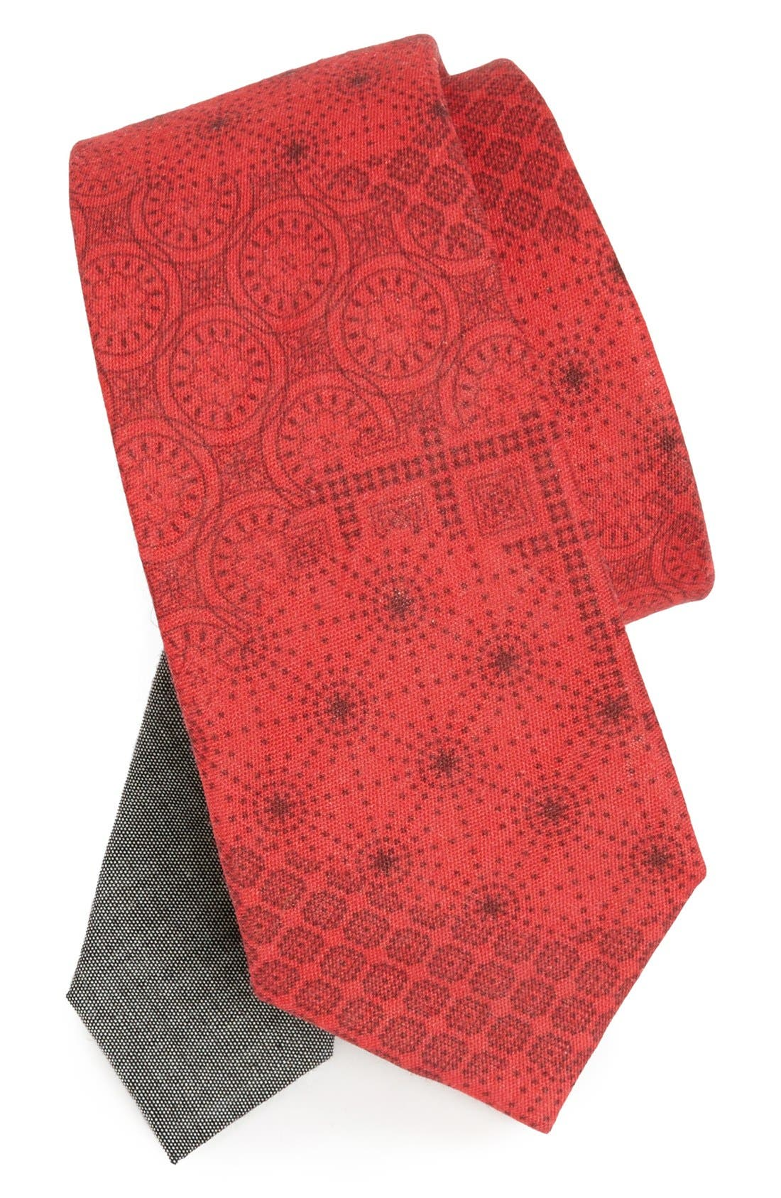 Main Image - EDIT by The Tie Bar Geometric Linen Tie (Nordstrom Exclusive)