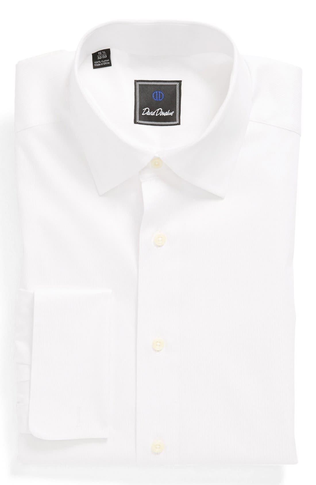 Main Image - David Donahue French Cuff Regular Fit Dress Shirt