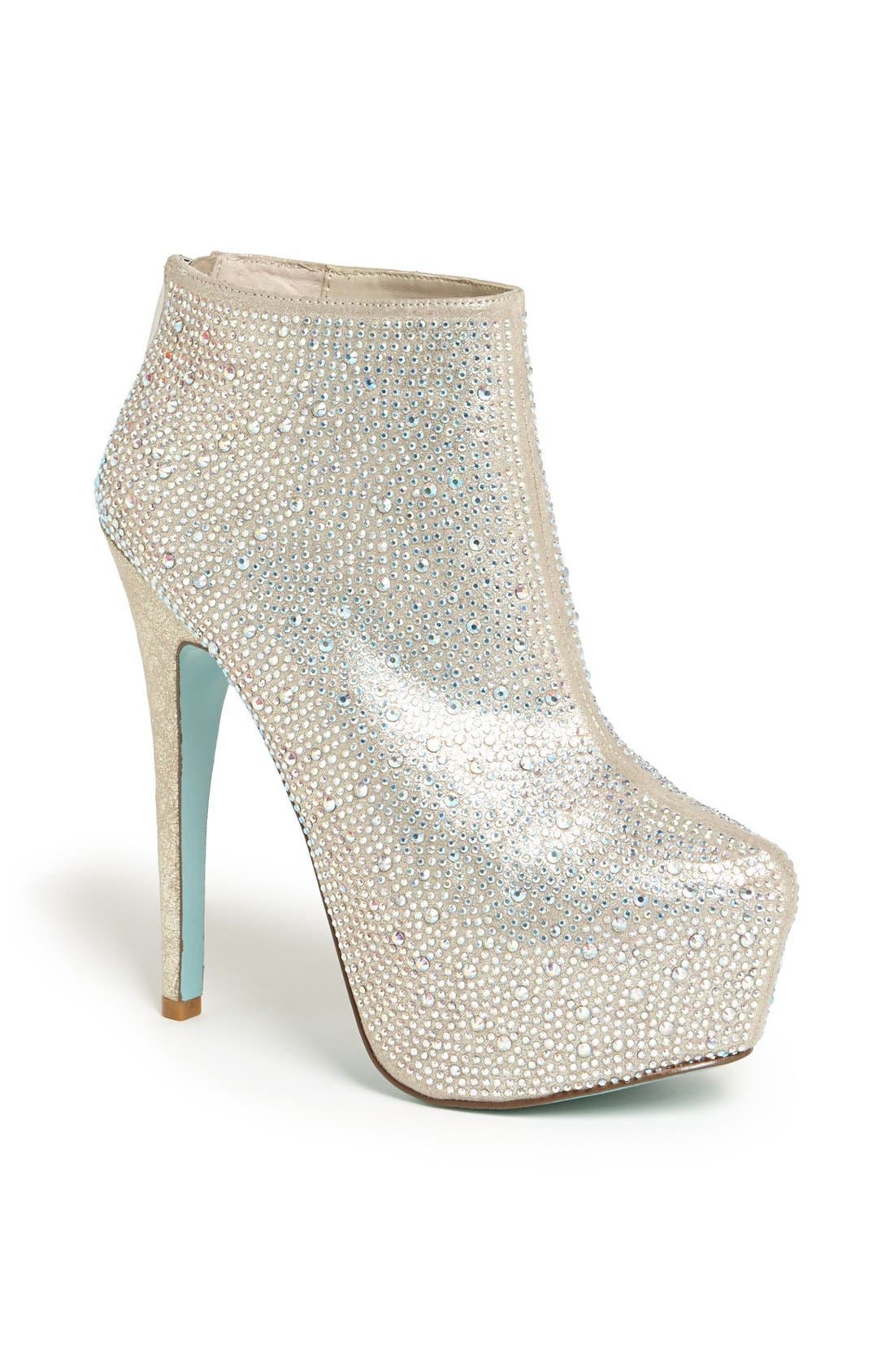 Alternate Image 1 Selected - Blue by Betsey Johnson 'Bride' Bootie