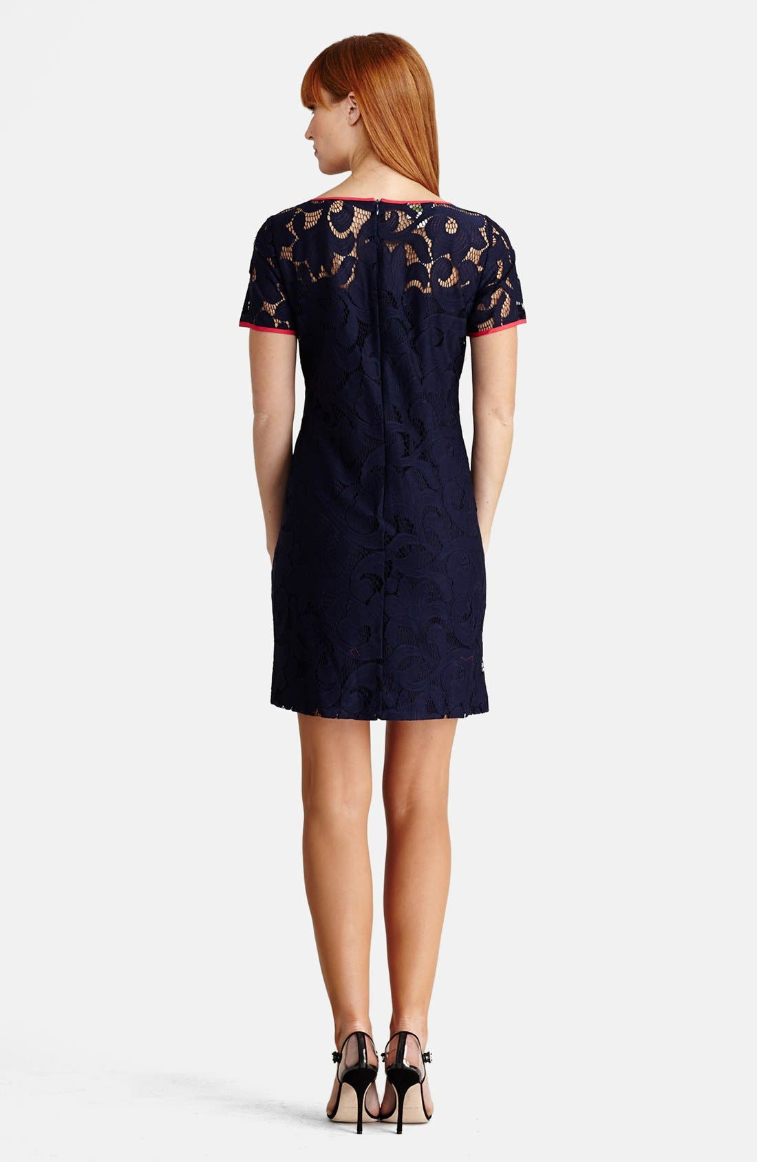 Alternate Image 2  - Donna Morgan Lace Shift Dress