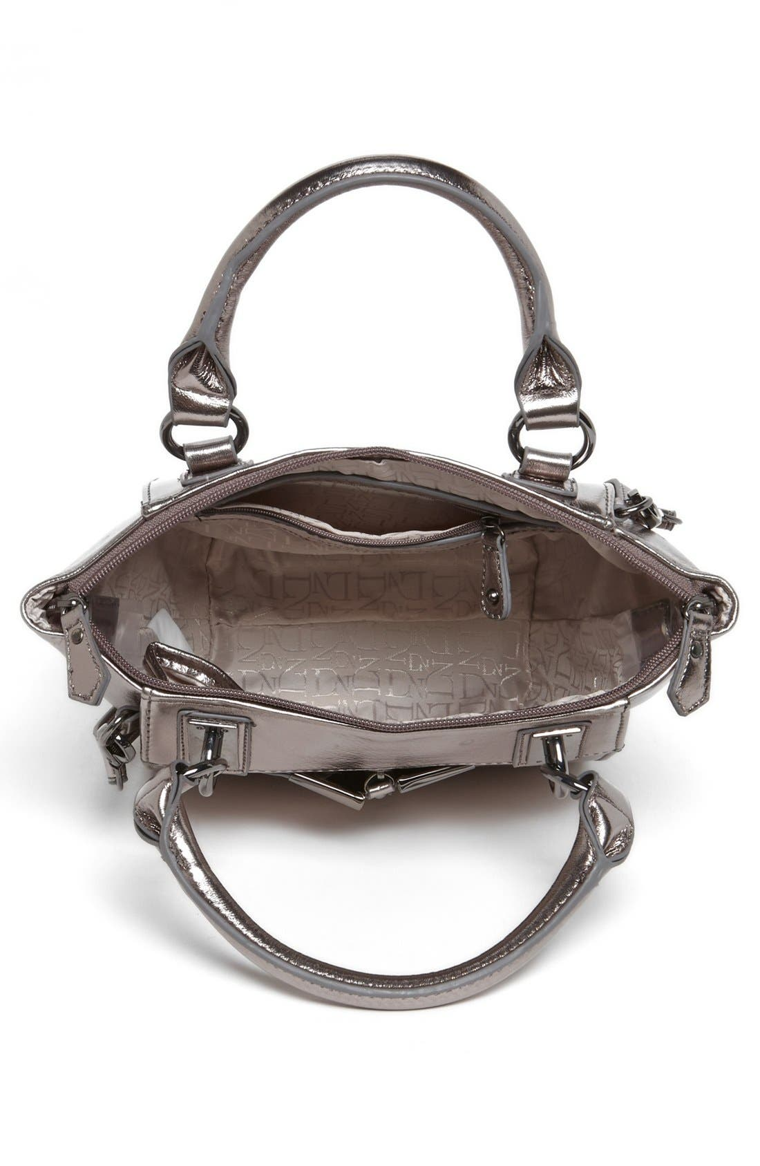 'Alexa - Mini' Crossbody Bag,                             Alternate thumbnail 3, color,                             Gunmetal