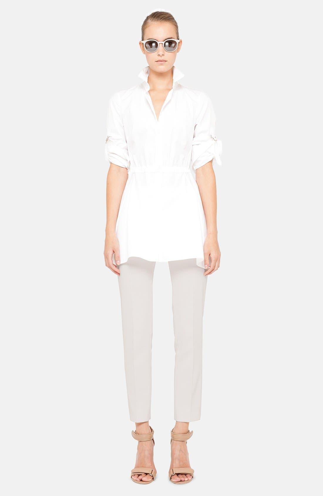 Alternate Image 1 Selected - Akris punto Cotton Shirt & Crop Pants