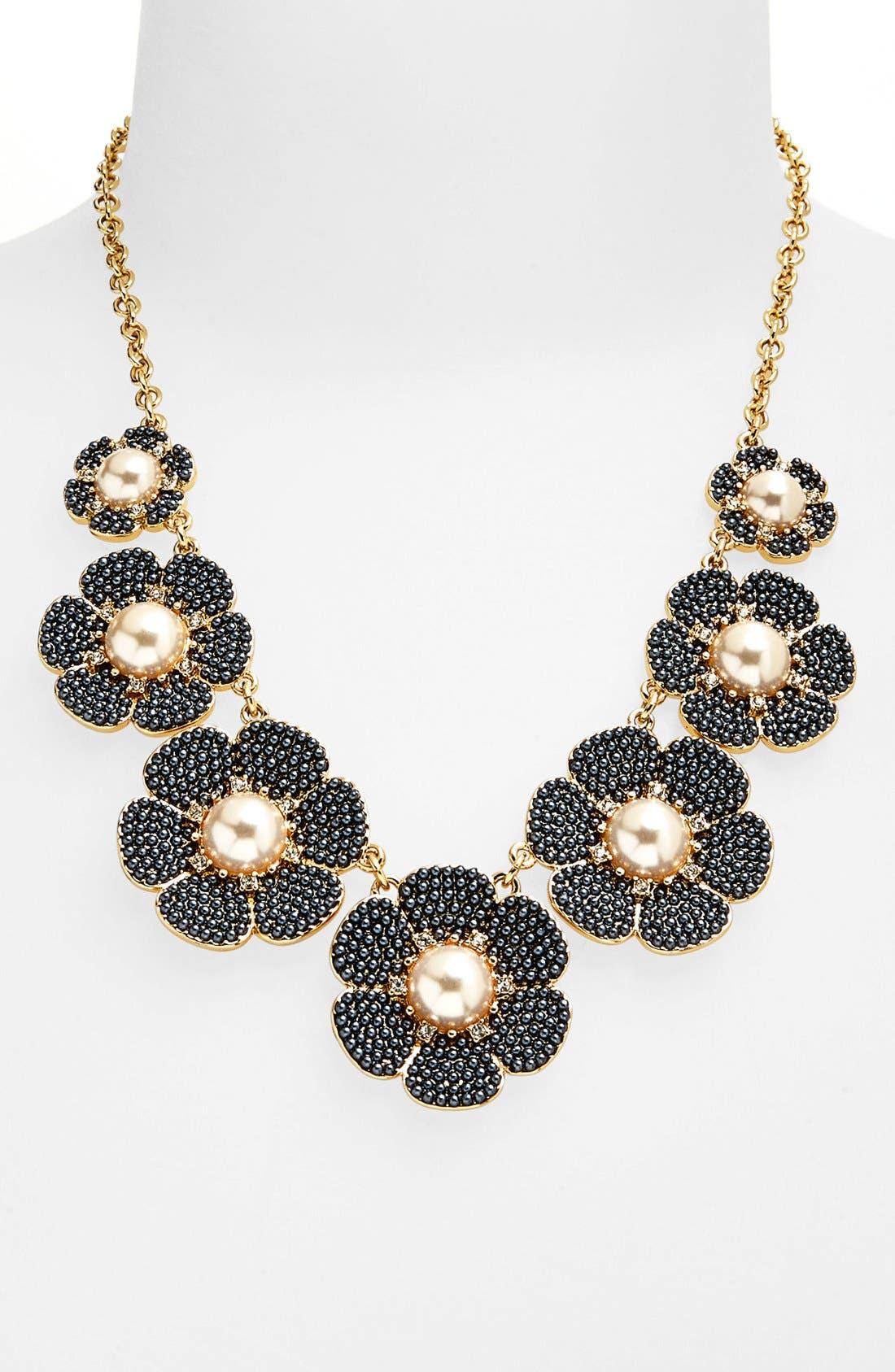 Alternate Image 2  - kate spade new york 'park floral' faux pearl bib necklace