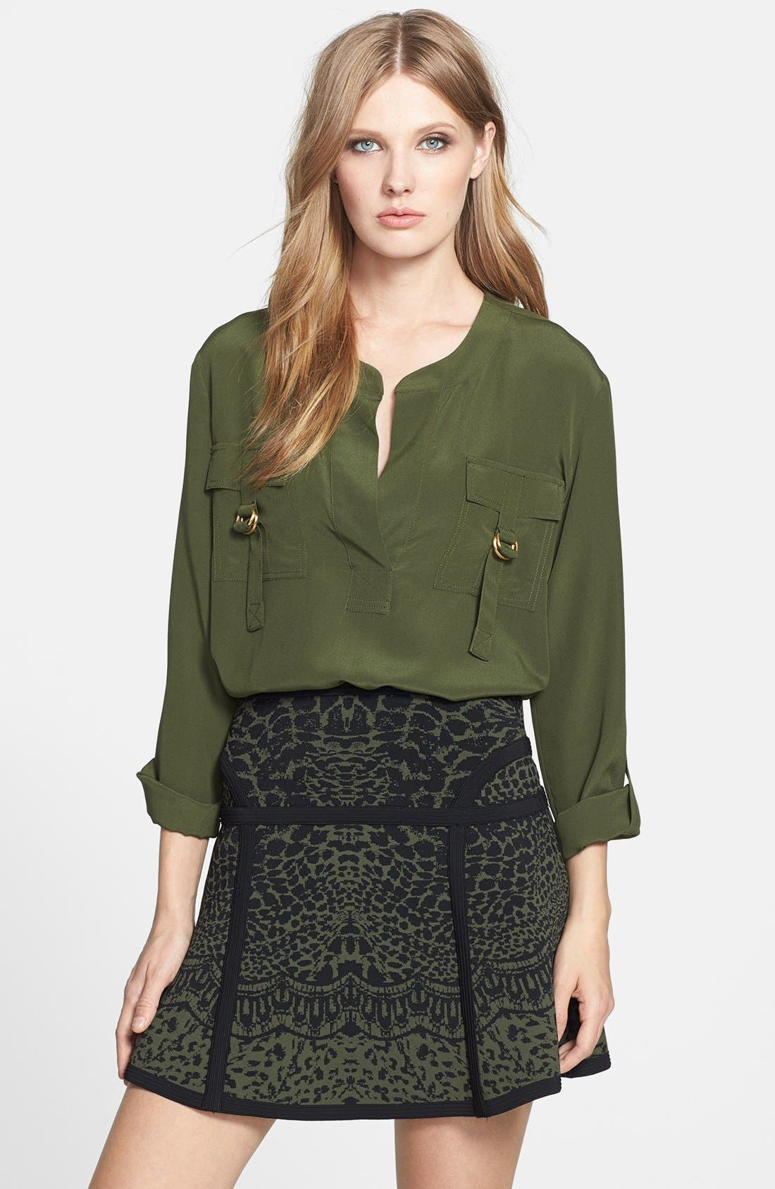 Alternate Image 1 Selected - Diane von Furstenberg 'Danielle' Silk Blouse