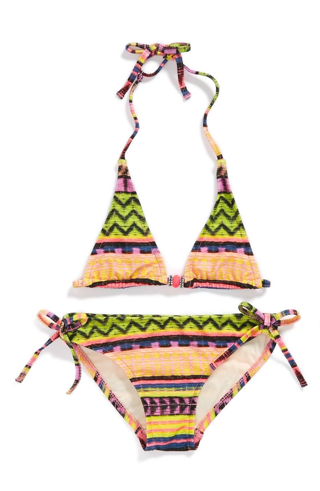 Alternate Image 1 Selected - Milly Minis 'Fiji' Two-Piece Swimsuit (Big Girls)
