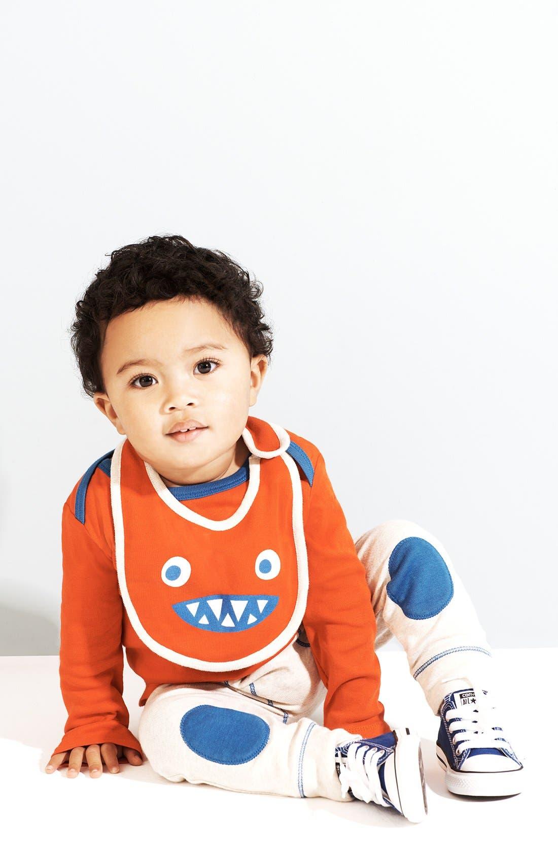 Alternate Image 1 Selected - Stem Baby Cotton Shirt, Pants & Bib (Baby Boys)