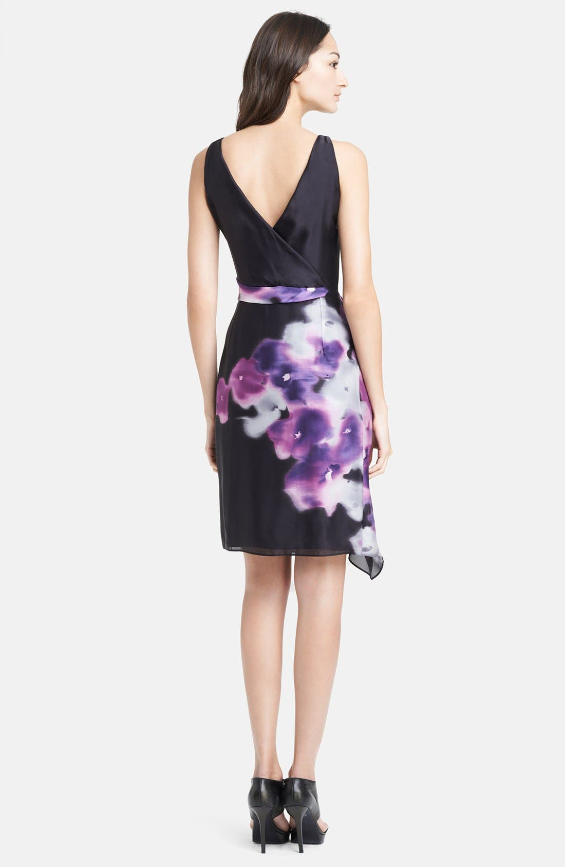 Alternate Image 2  - Armani Collezioni Print Side Drape Silk Dress